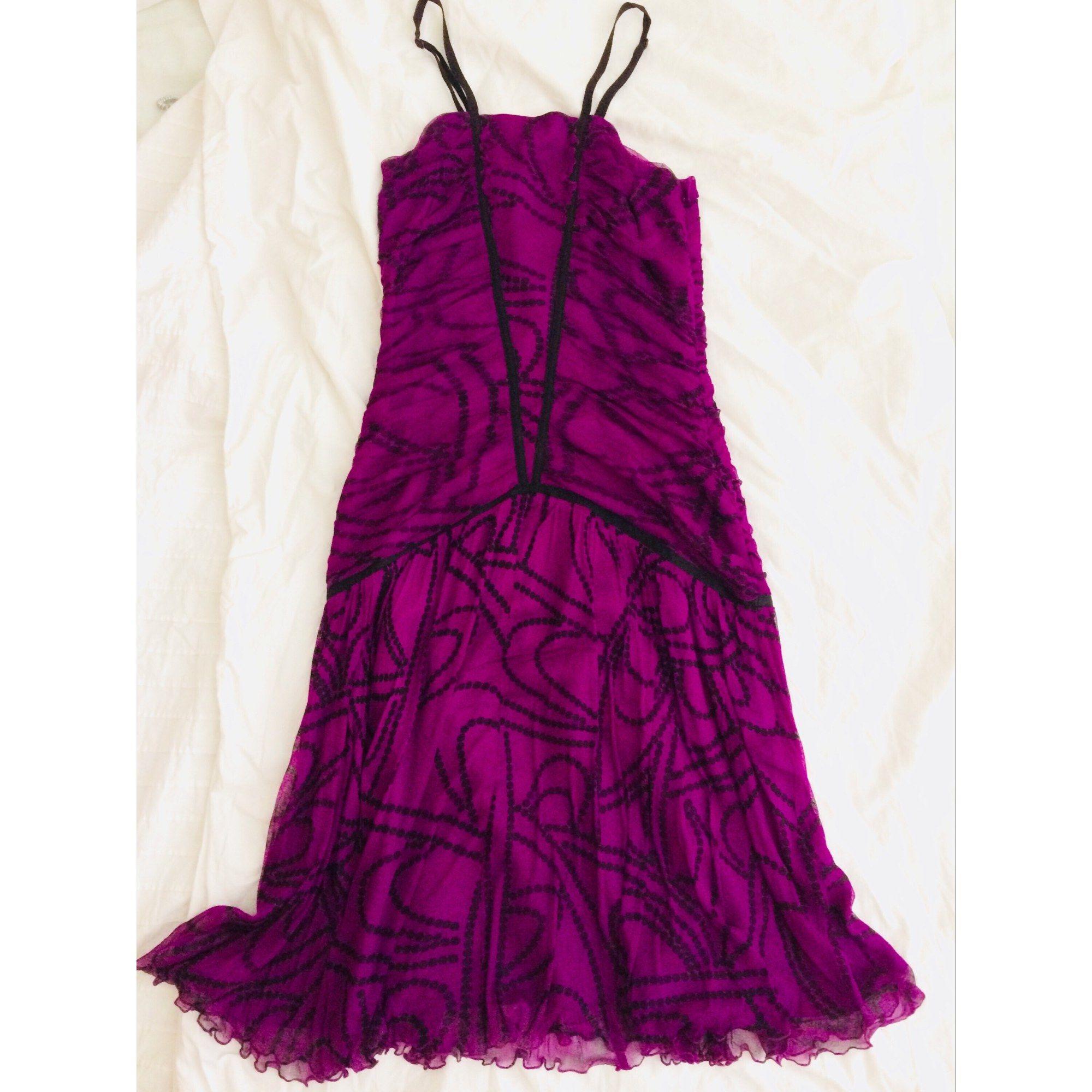 Robe mi-longue REISS Violet, mauve, lavande