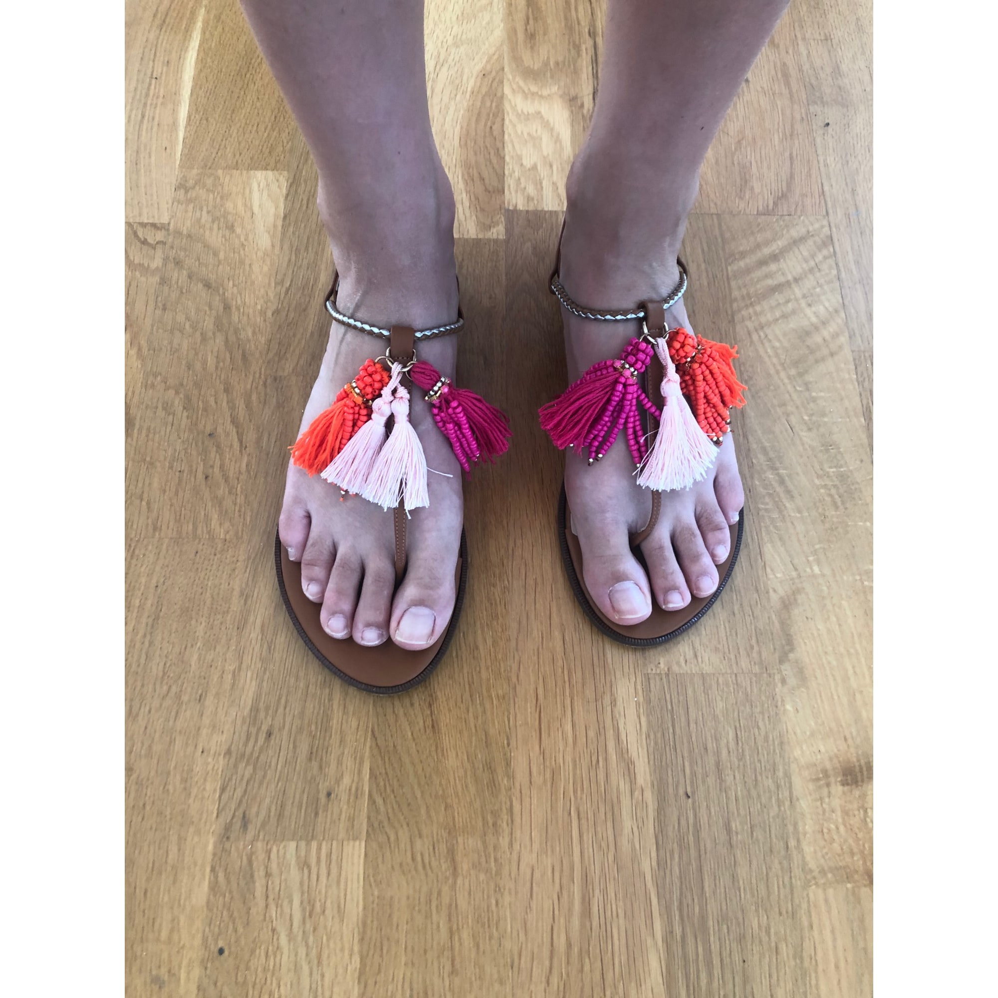 Sandales plates  PATRIZIA PEPE Marron