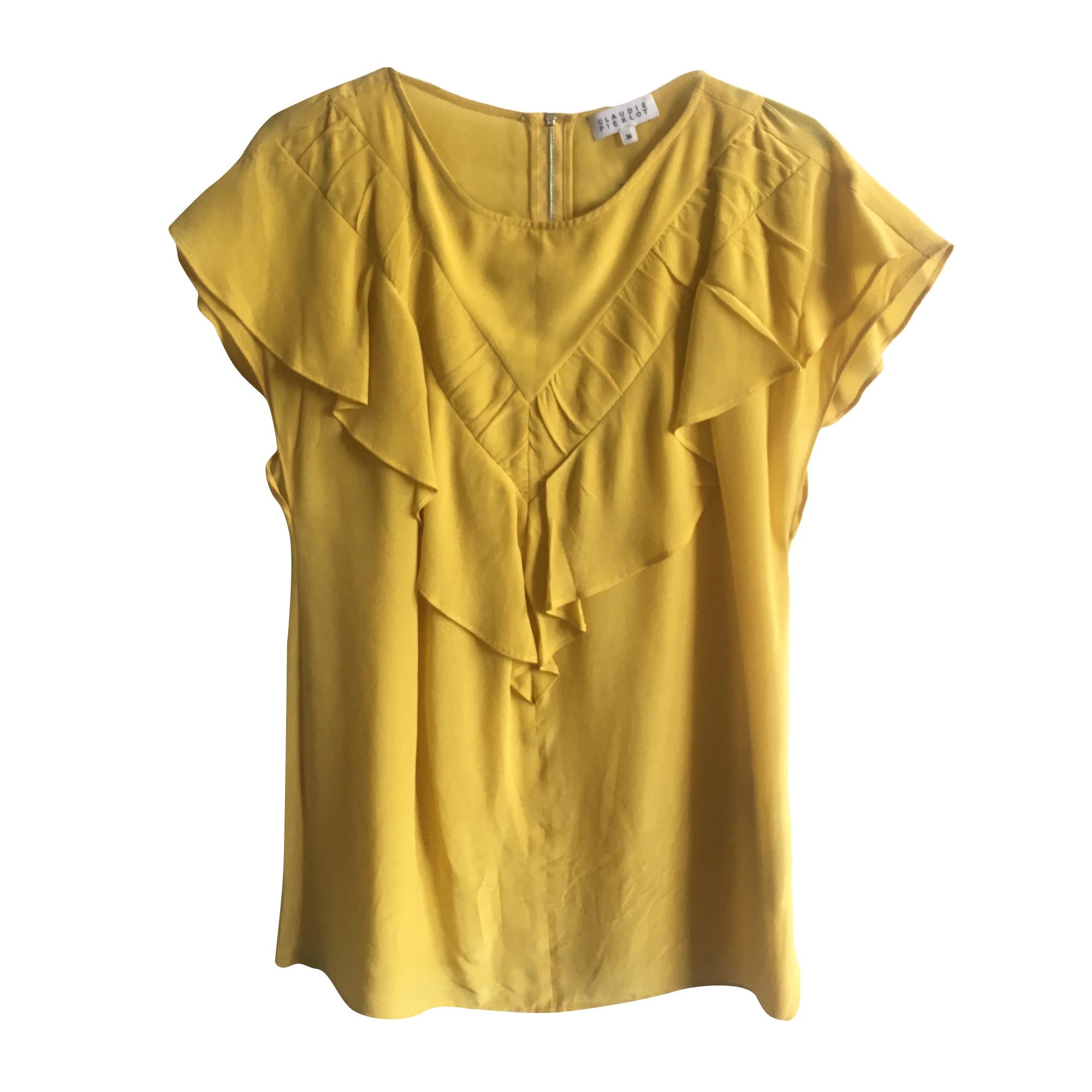 Top, tee-shirt CLAUDIE PIERLOT Jaune