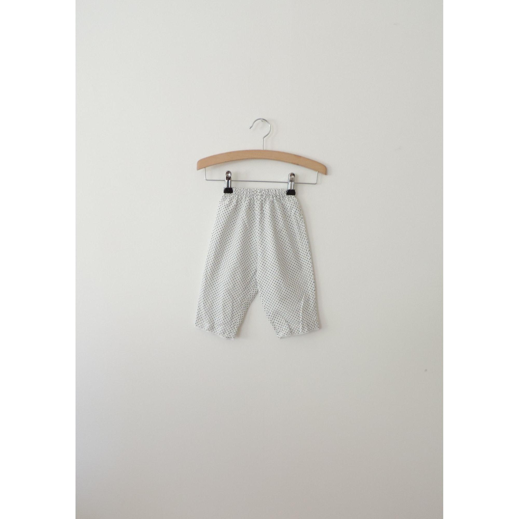 Pantalon BONTON Blanc, blanc cassé, écru