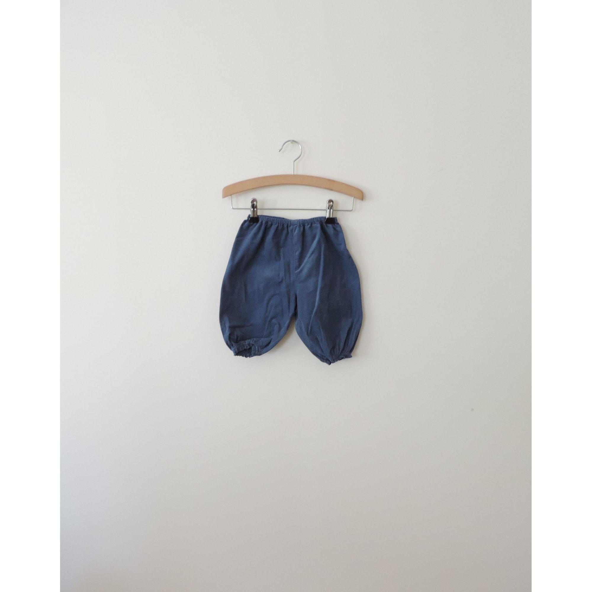 Pantalon BONTON Bleu, bleu marine, bleu turquoise
