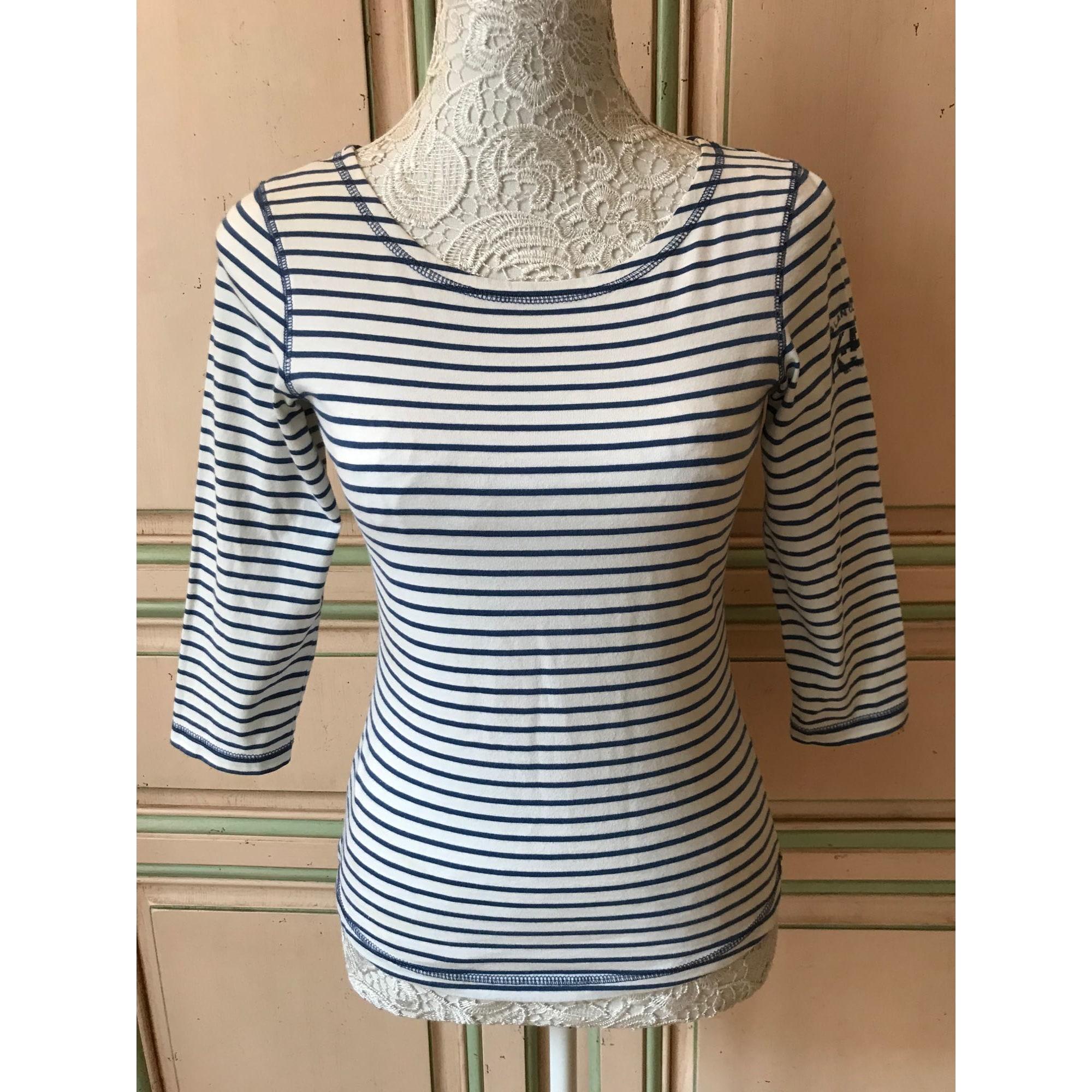 Top, tee-shirt BLANC BLEU Multicouleur