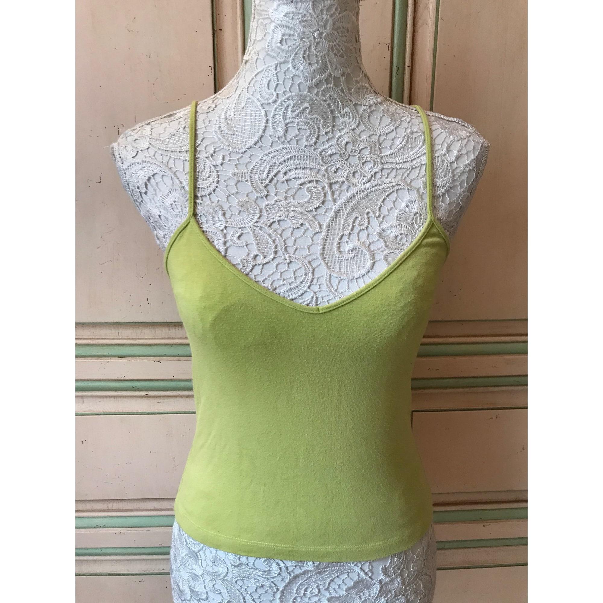 Top, tee-shirt BLANC BLEU Vert