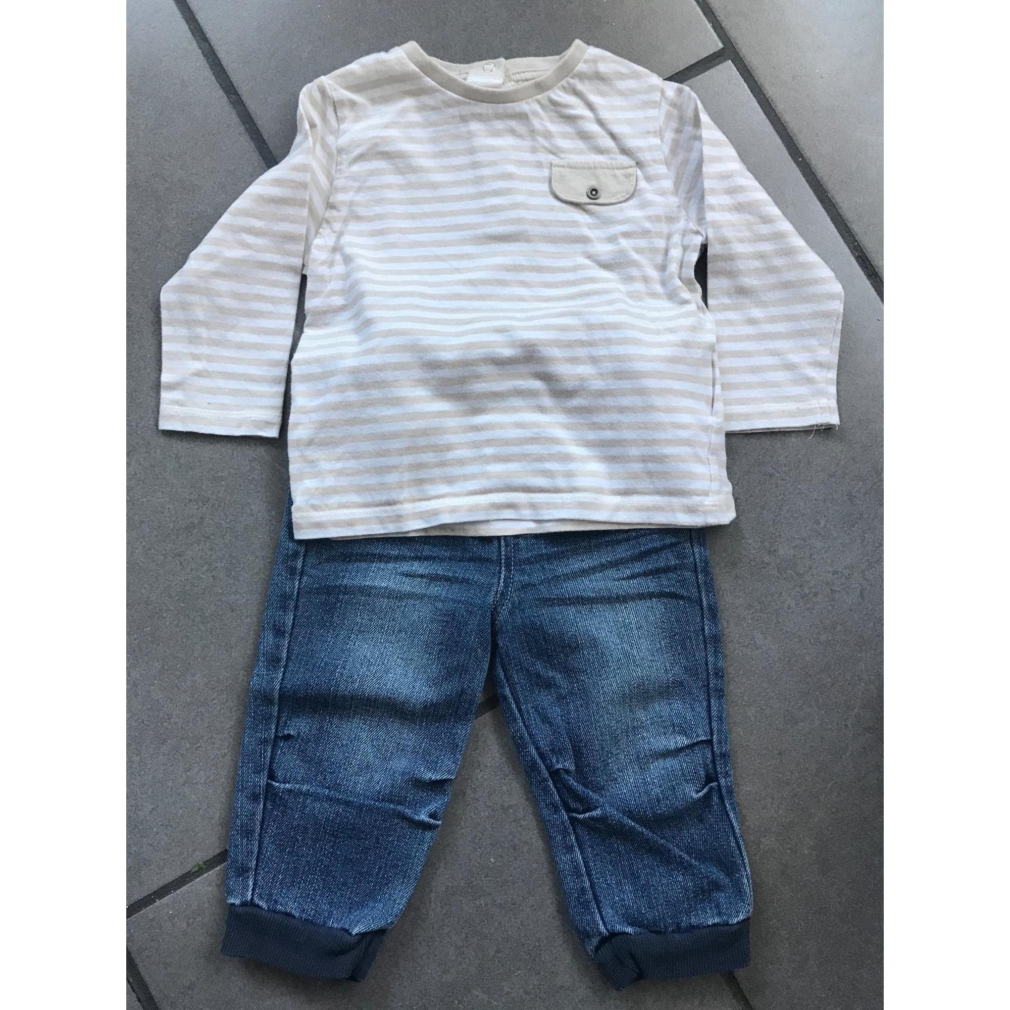 Ensemble & Combinaison pantalon KITCHOUN Bleu et beige
