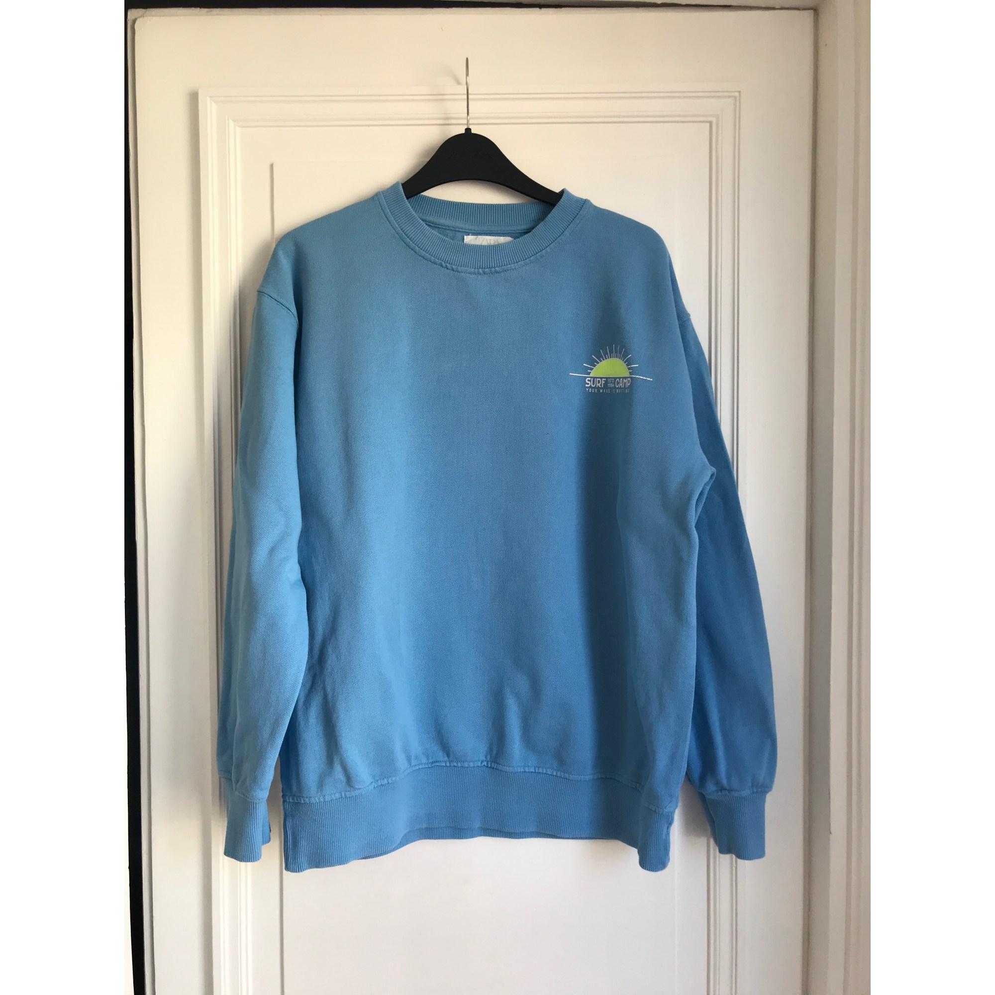 Sweat ZARA Bleu, bleu marine, bleu turquoise
