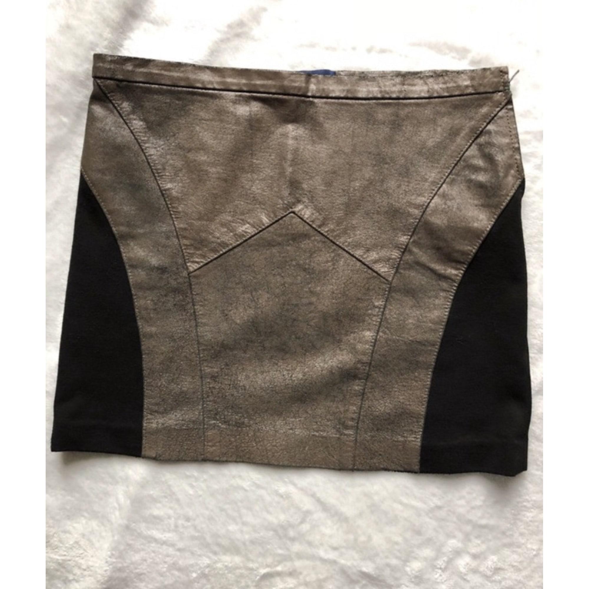 Jupe courte APRIL MAY Doré, bronze, cuivre