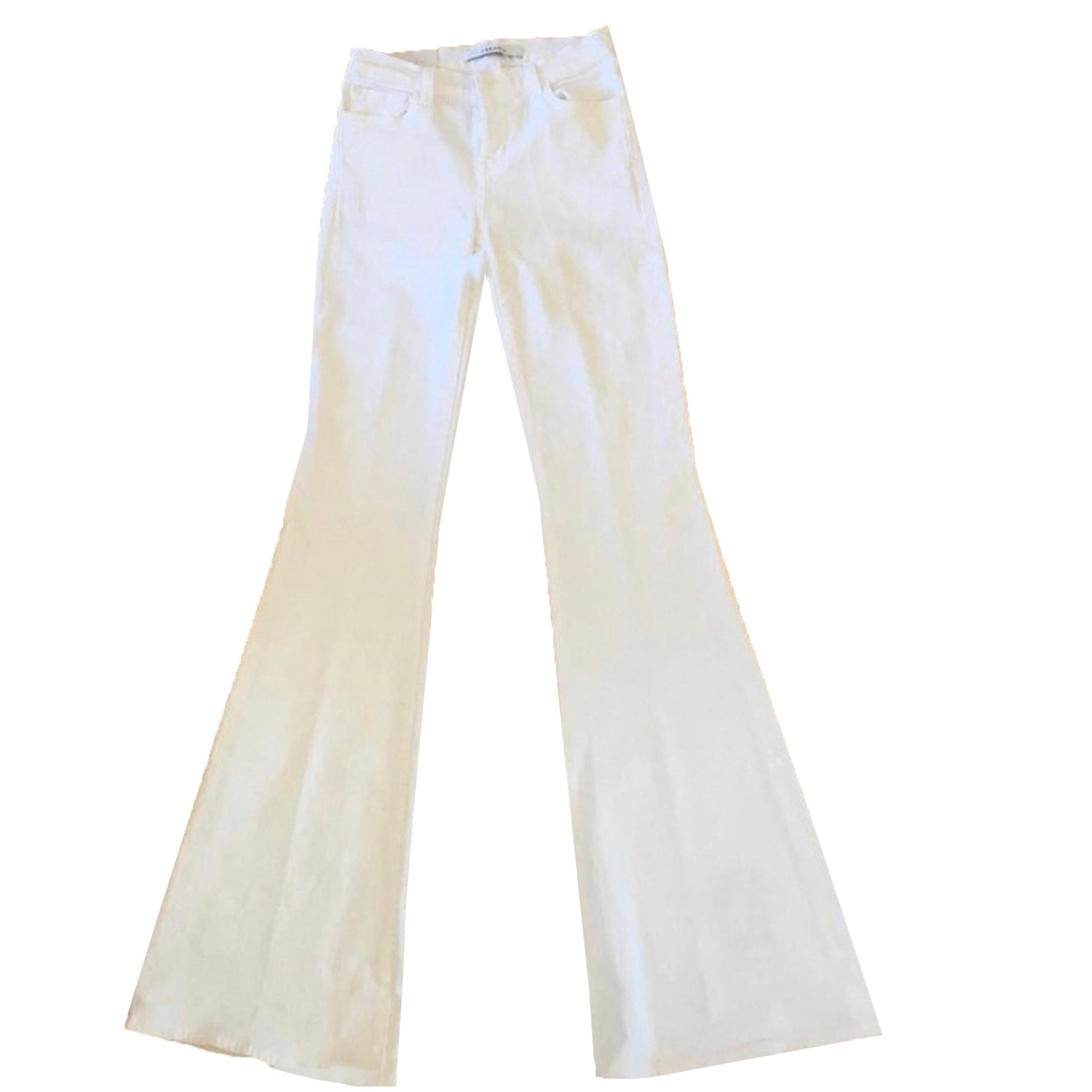 Jeans évasé, boot-cut J BRAND Blanc, blanc cassé, écru