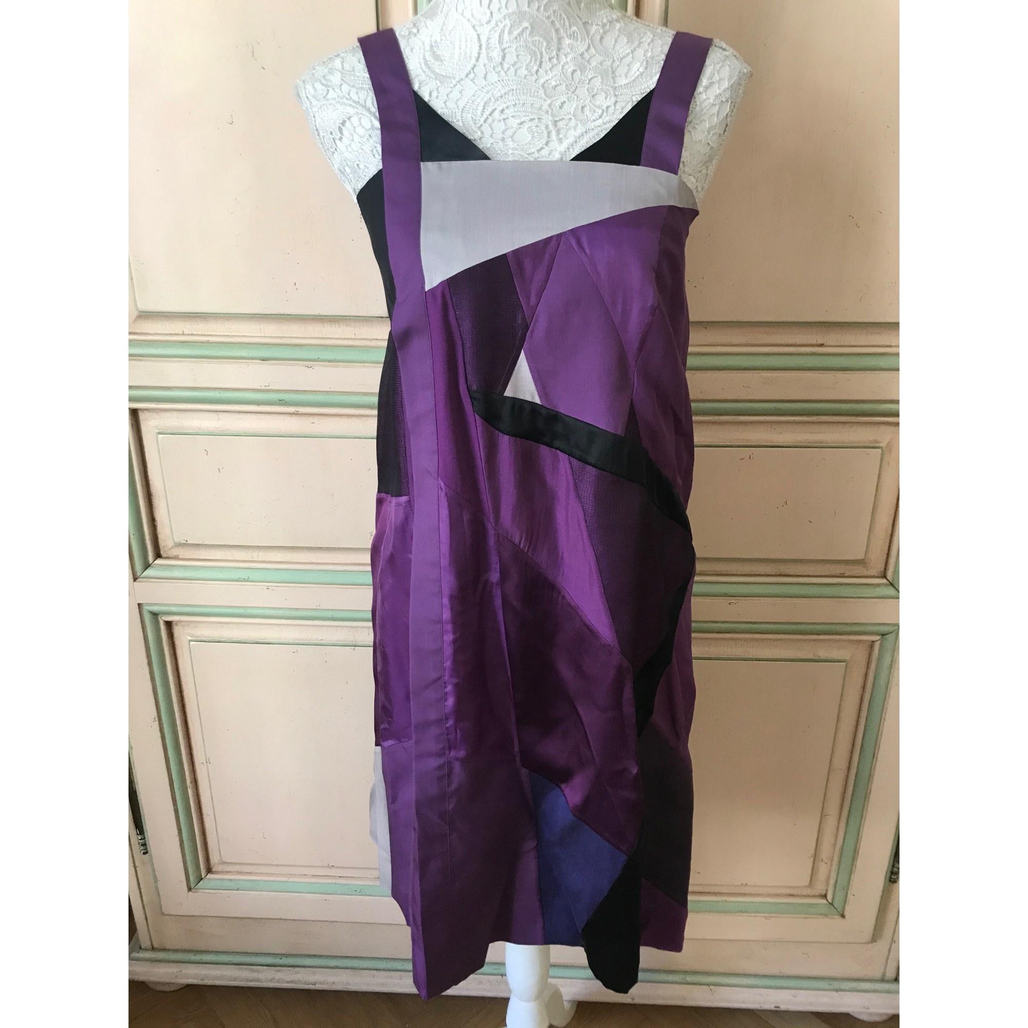 Robe courte CHLOÉ Violet, mauve, lavande