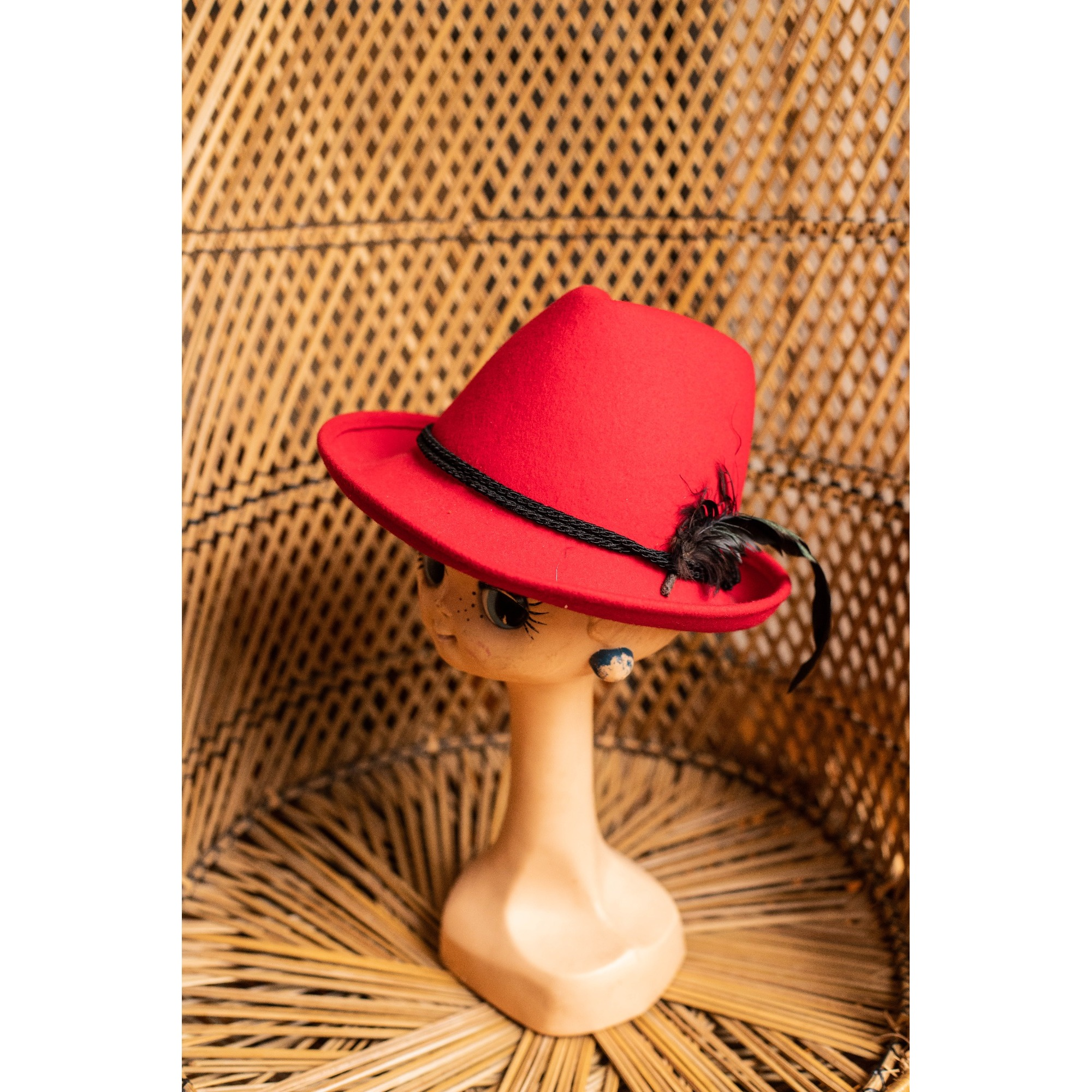 Chapeau FILIPPO CATARZI Rouge, bordeaux