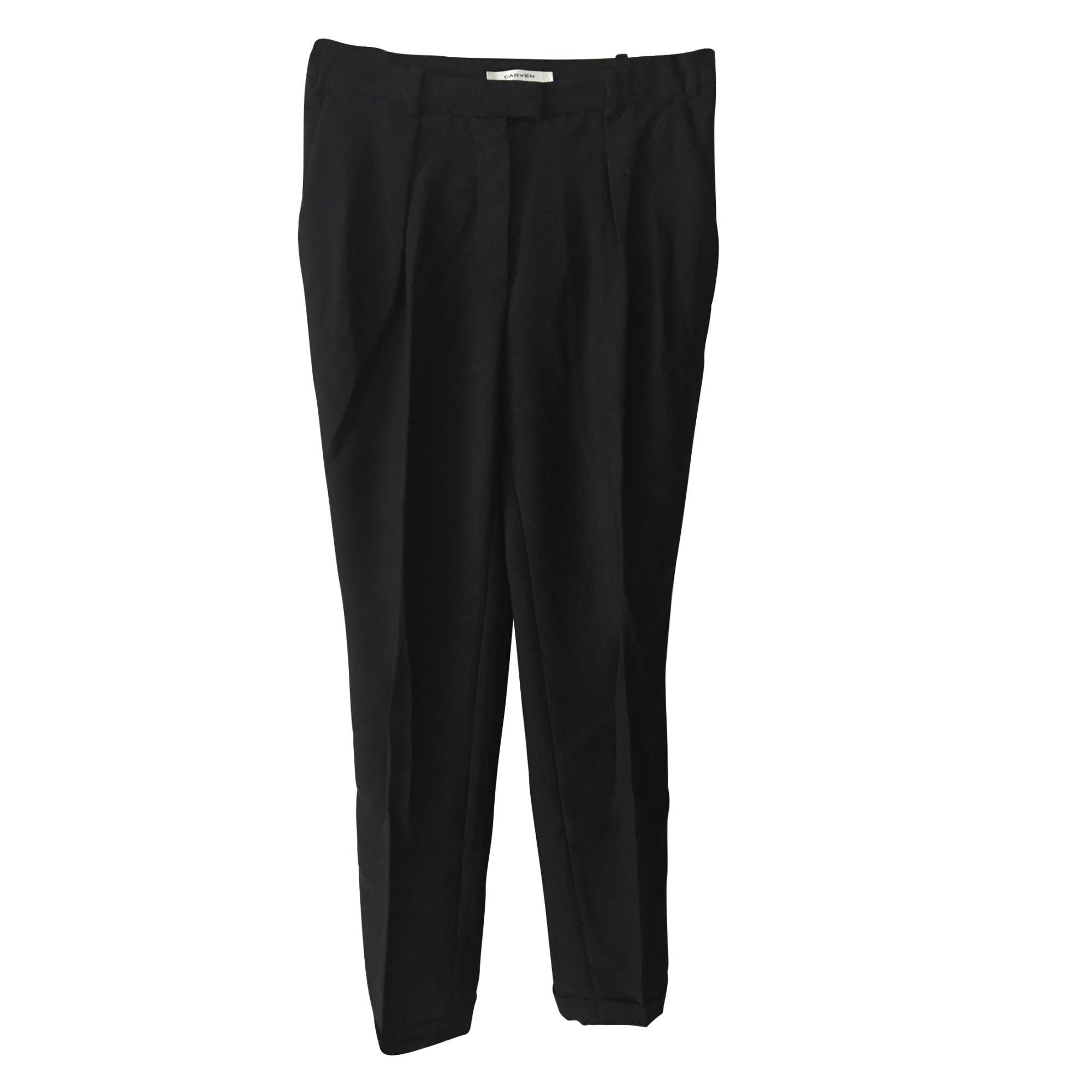 Pantalon droit CARVEN Noir