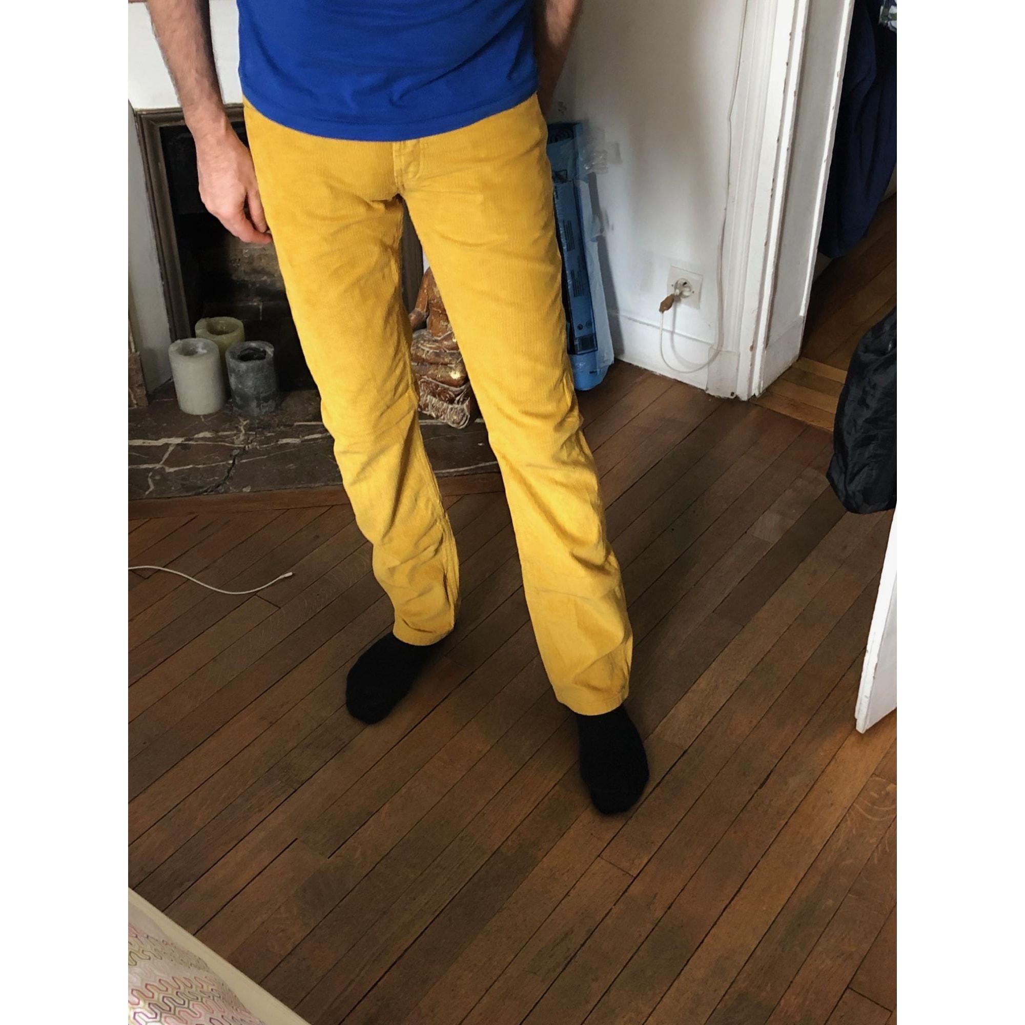 Pantalon droit MONOPRIX moutarde