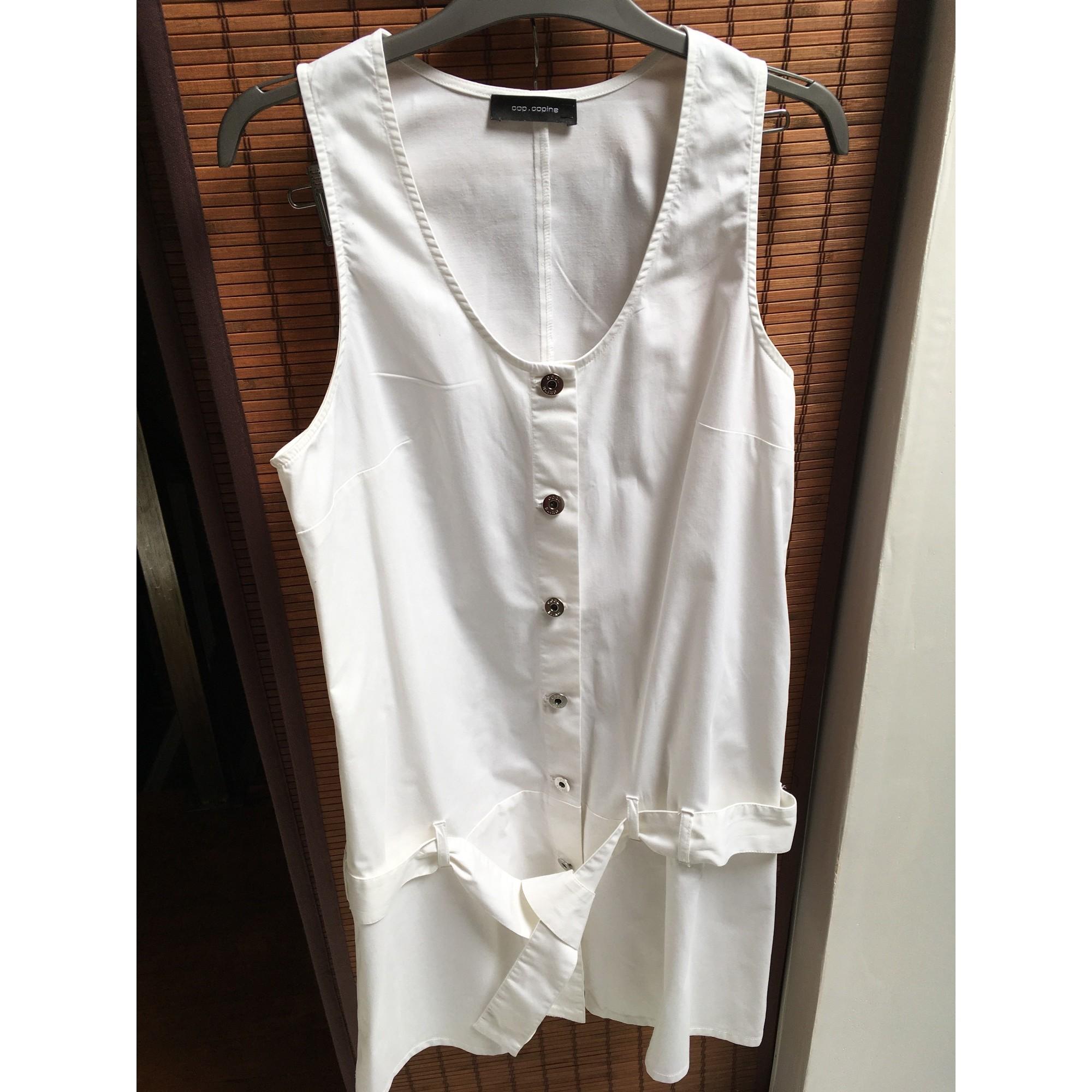 Robe courte COP-COPINE Blanc, blanc cassé, écru