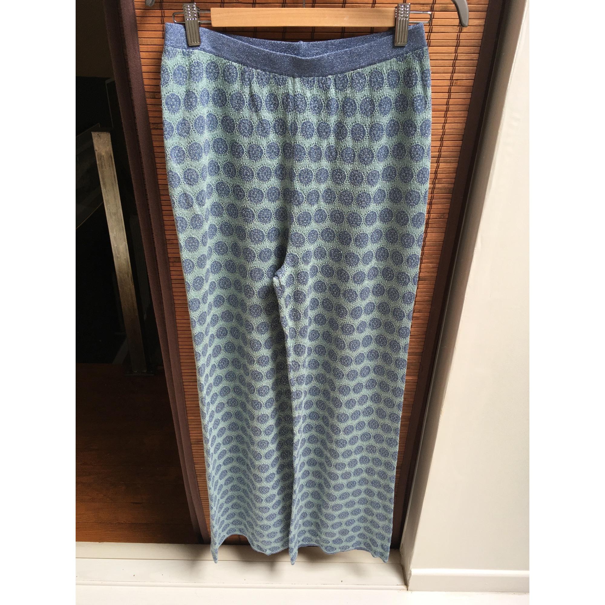 Pantalon large STEFANEL Bleu, bleu marine, bleu turquoise