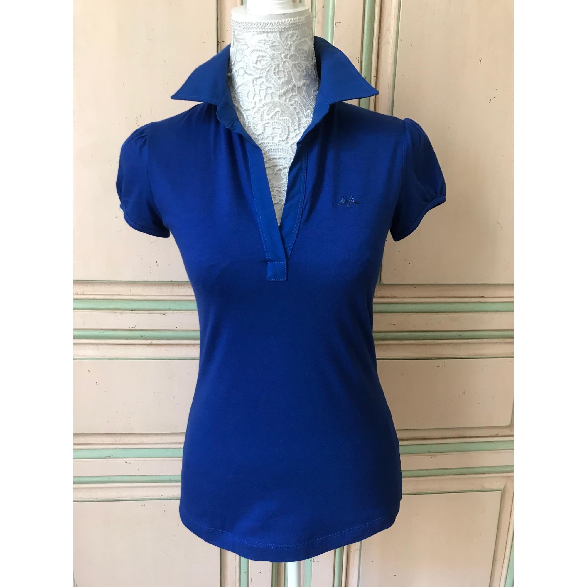 Polo THOMAS BURBERRY Bleu, bleu marine, bleu turquoise