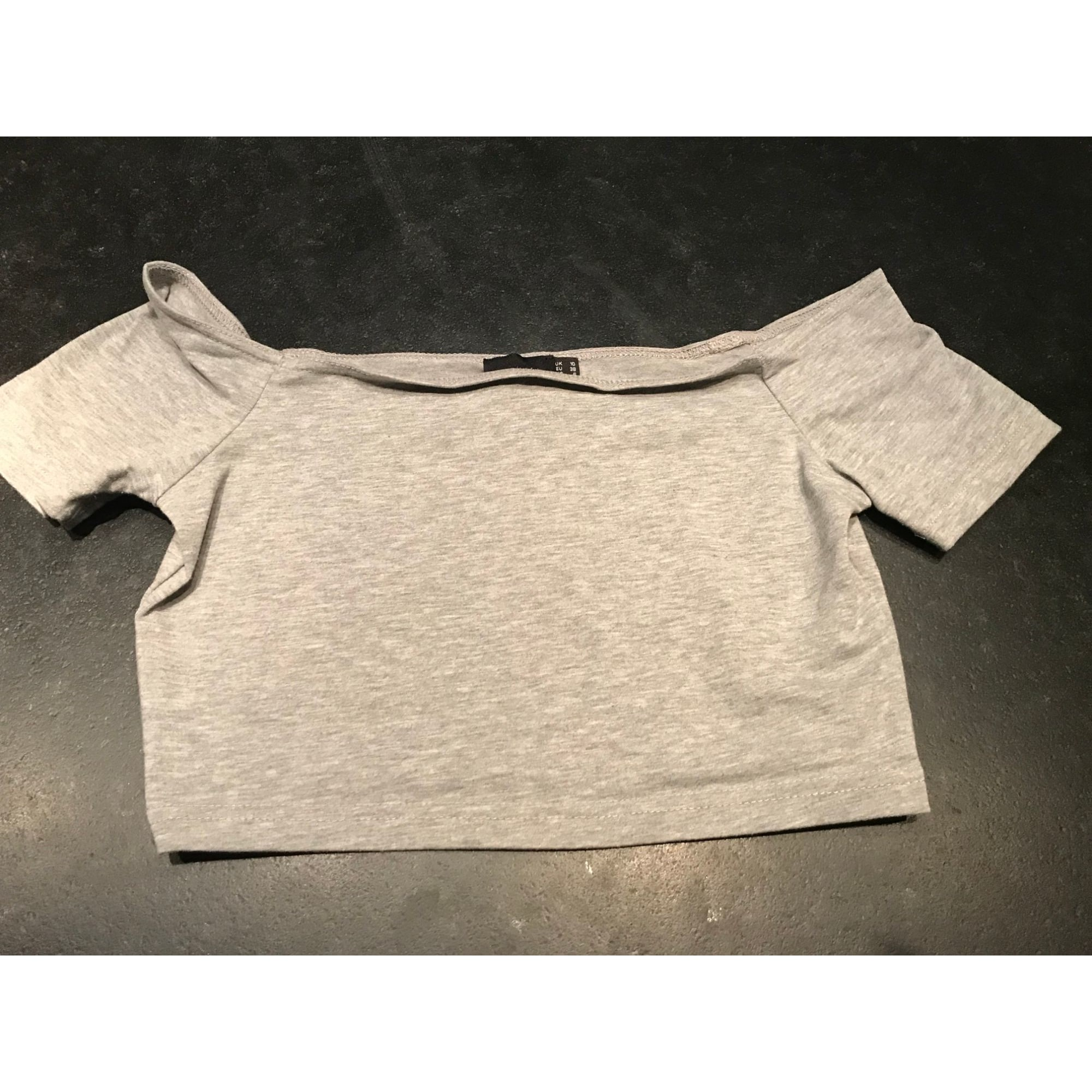 Top, tee-shirt ASOS Gris, anthracite