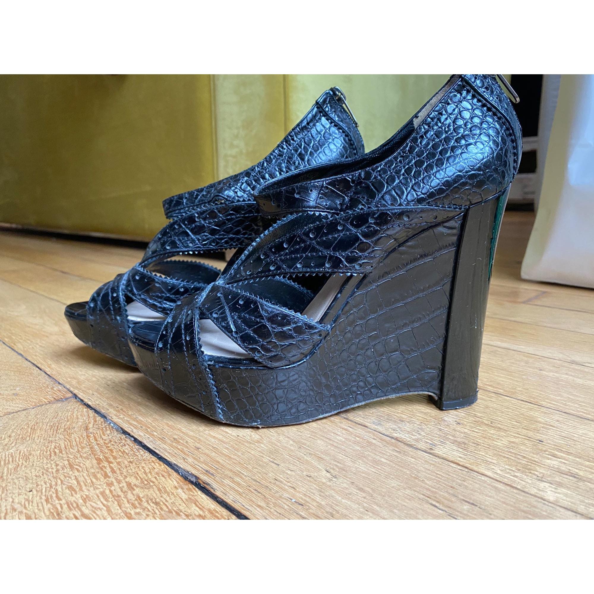Sandales compensées DIOR Noir