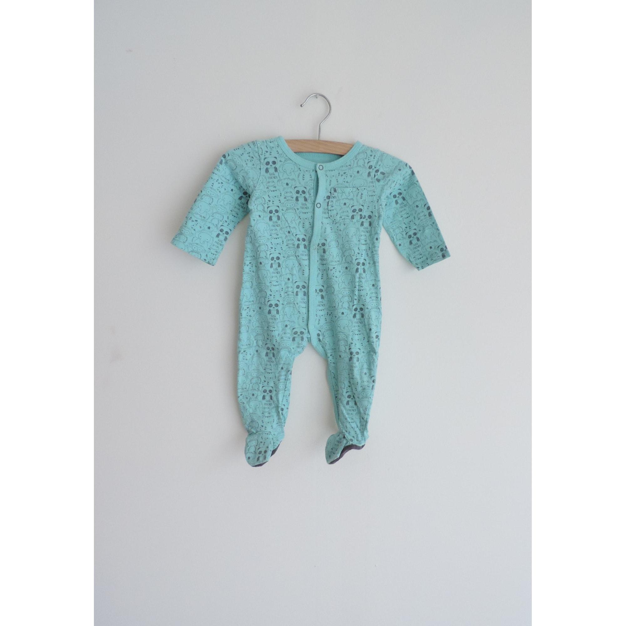 Grenouillère, babygros IN EXTENSO Bleu, bleu marine, bleu turquoise