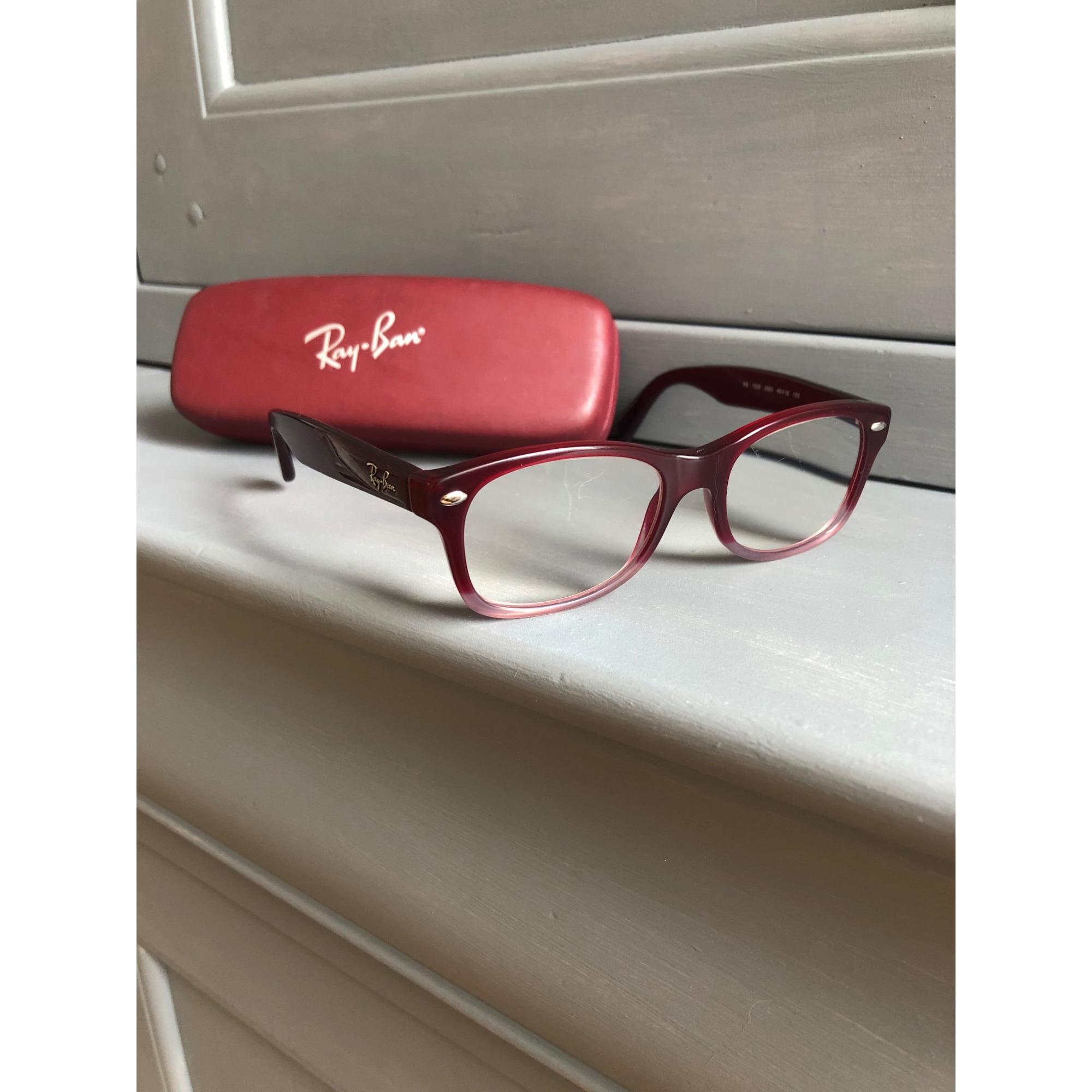 Monture de lunettes RAY-BAN Rouge, bordeaux