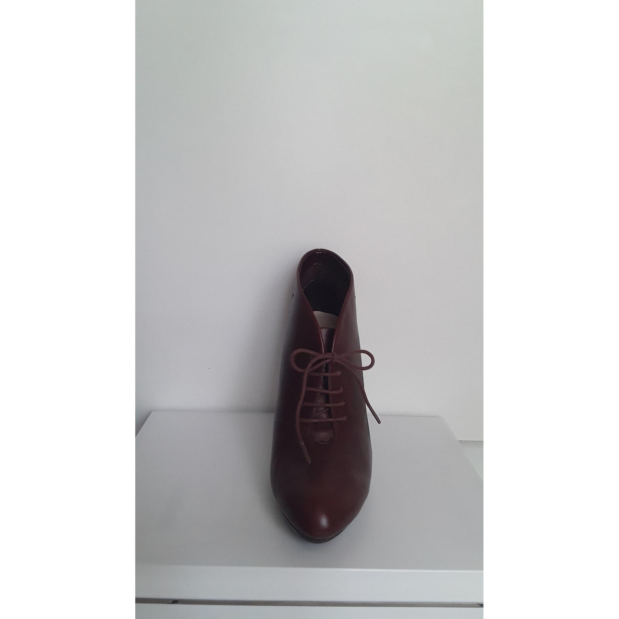 Bottines & low boots à talons MARKS & SPENCER AUTOGRAPH Rouge, bordeaux