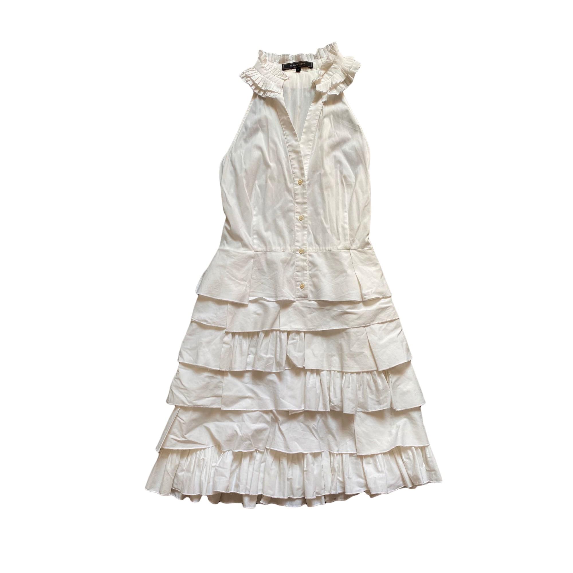 Robe mi-longue BCBG MAX AZRIA Blanc, blanc cassé, écru