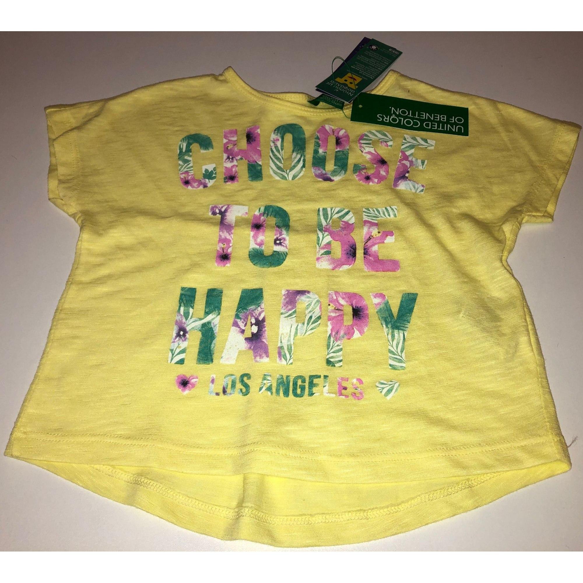 Top, tee shirt UNITED COLORS OF BENETTON Jaune