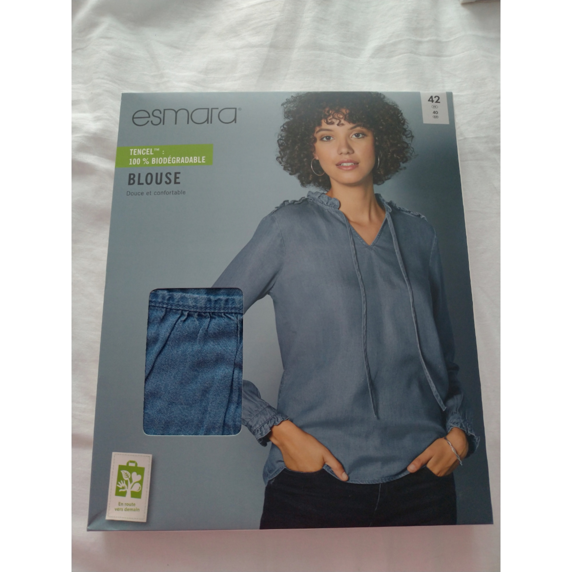 Blouse ESMARA Bleu, bleu marine, bleu turquoise