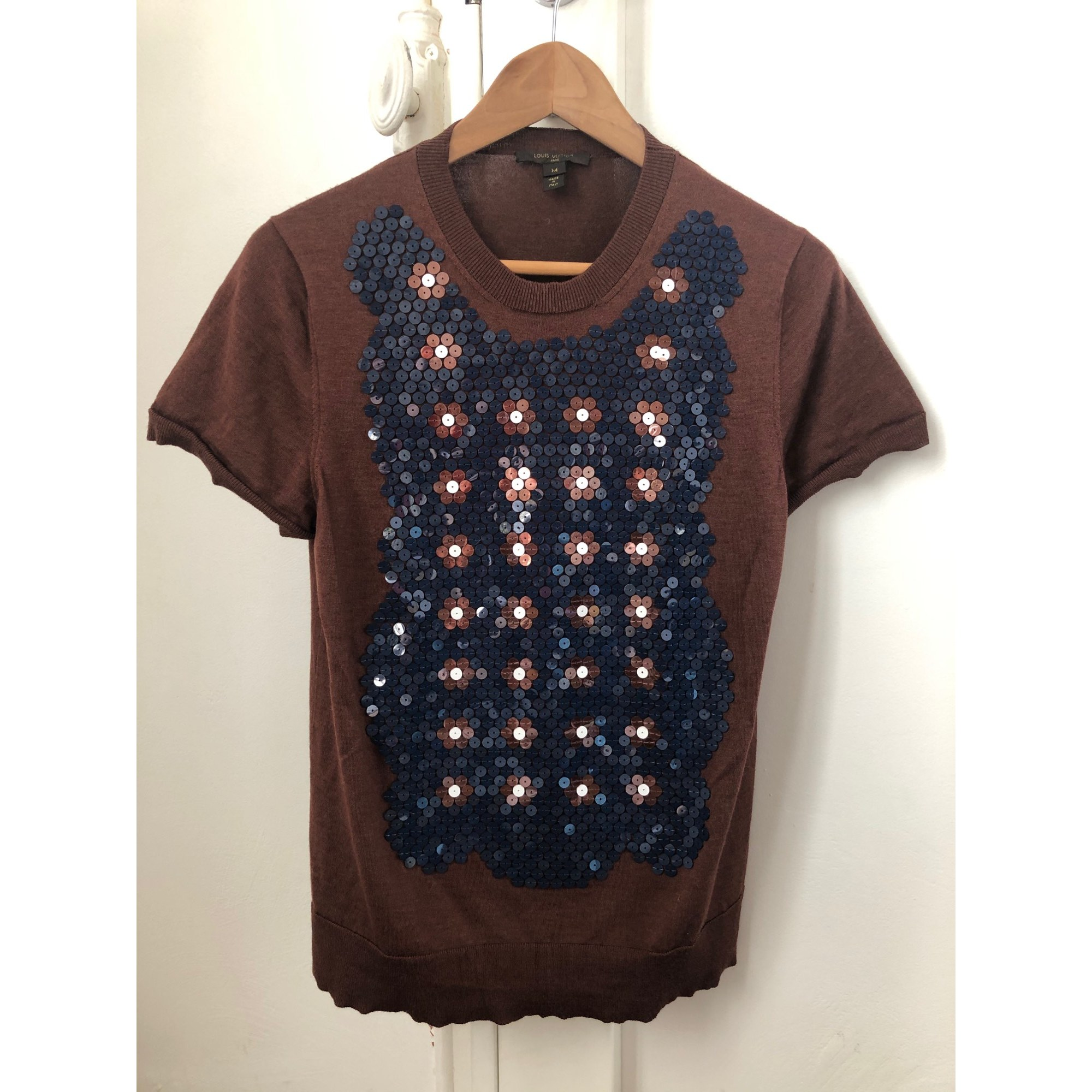 Top, tee-shirt LOUIS VUITTON Marron