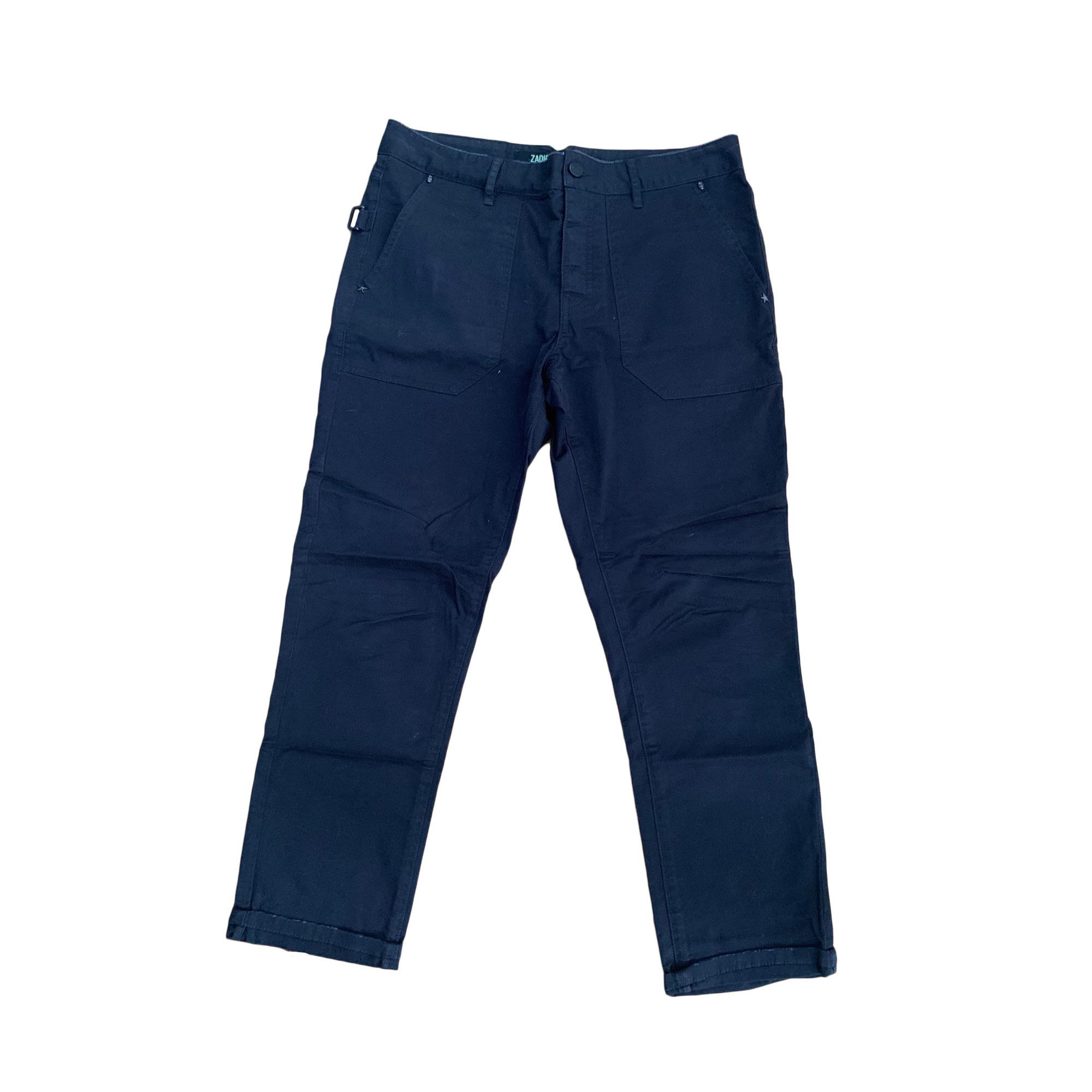 Pantalon large ZADIG & VOLTAIRE Gris, anthracite
