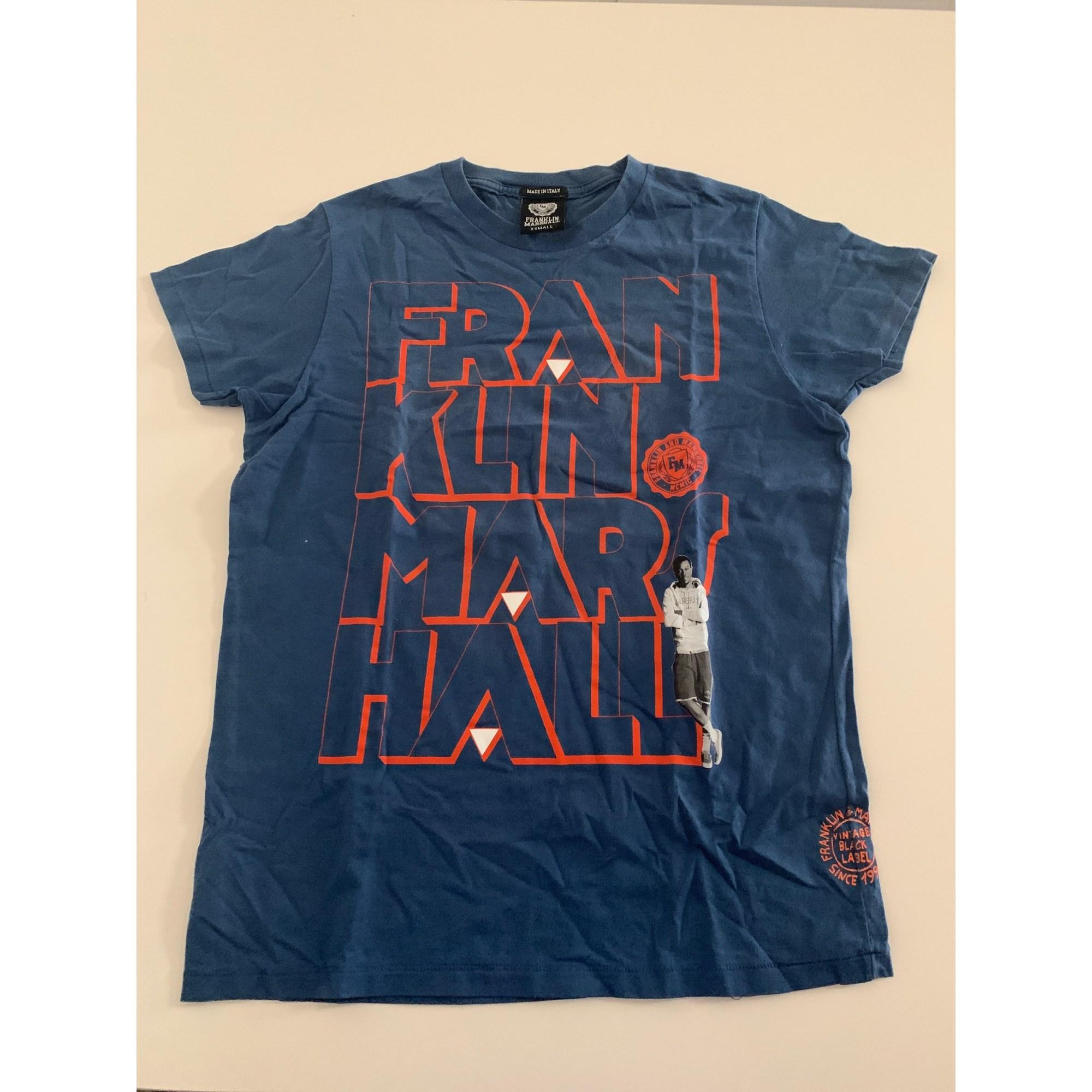 Tee-shirt FRANKLIN & MARSHALL Bleu, bleu marine, bleu turquoise