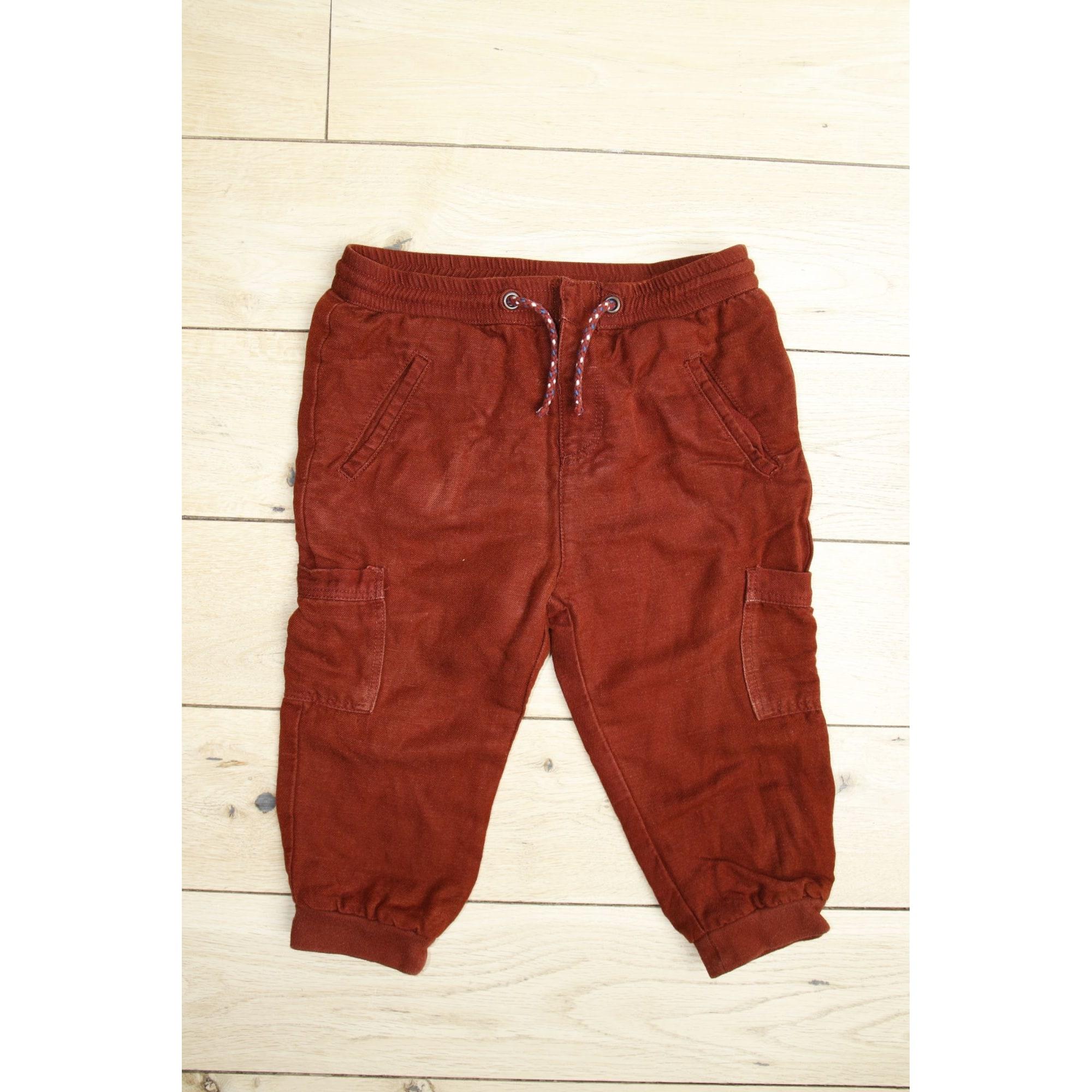 Pantalon ZARA Rouge, bordeaux