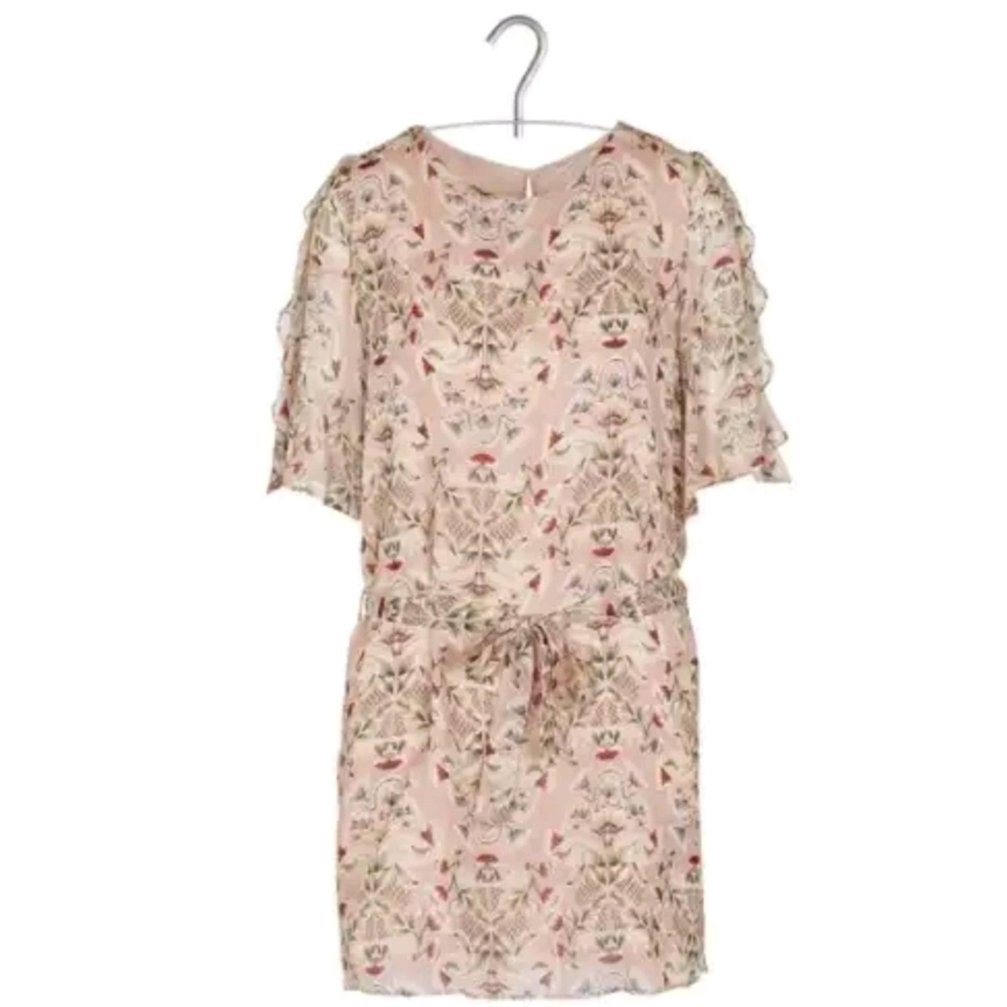 Robe courte IKKS Rose, fuschia, vieux rose