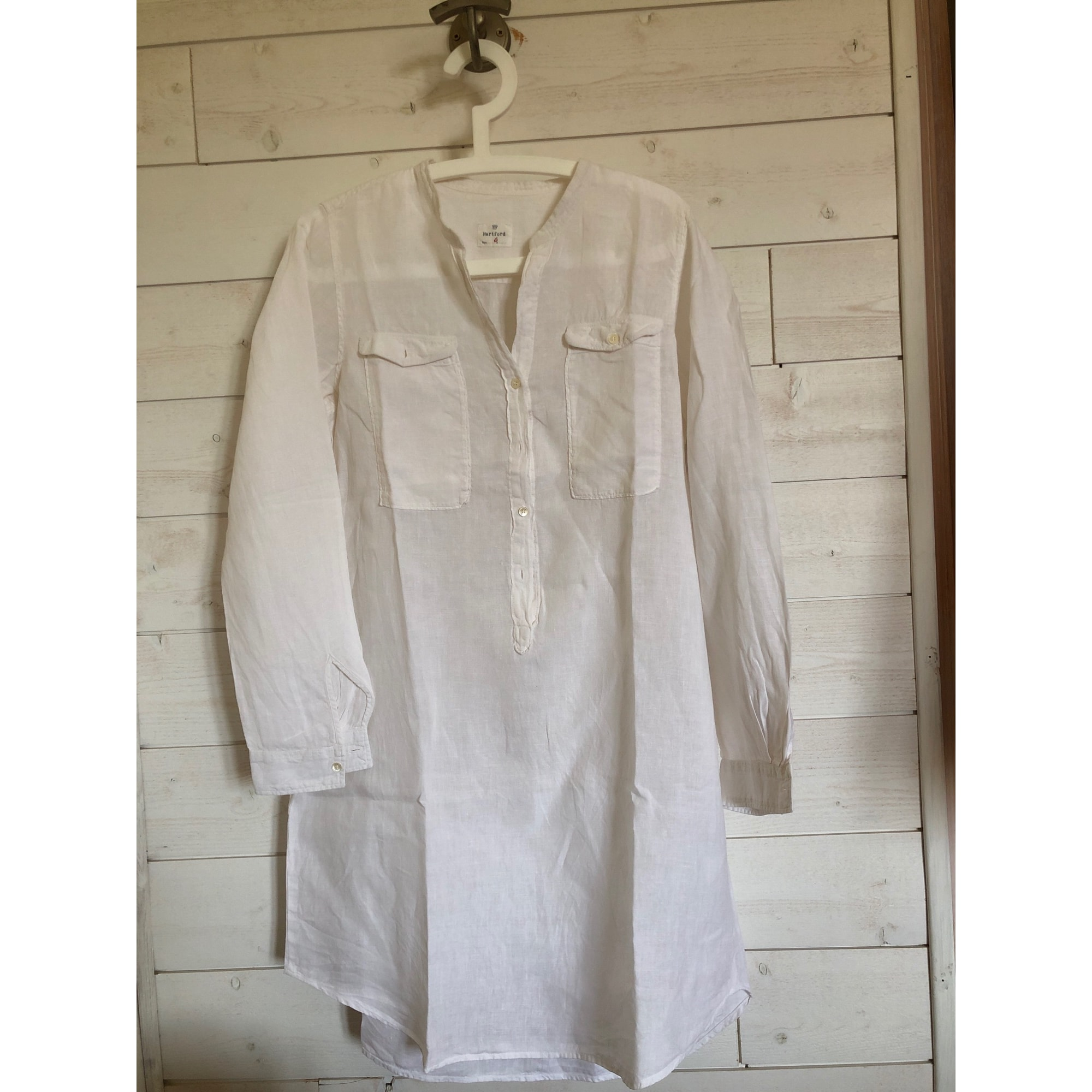 Robe courte HARTFORD Blanc, blanc cassé, écru