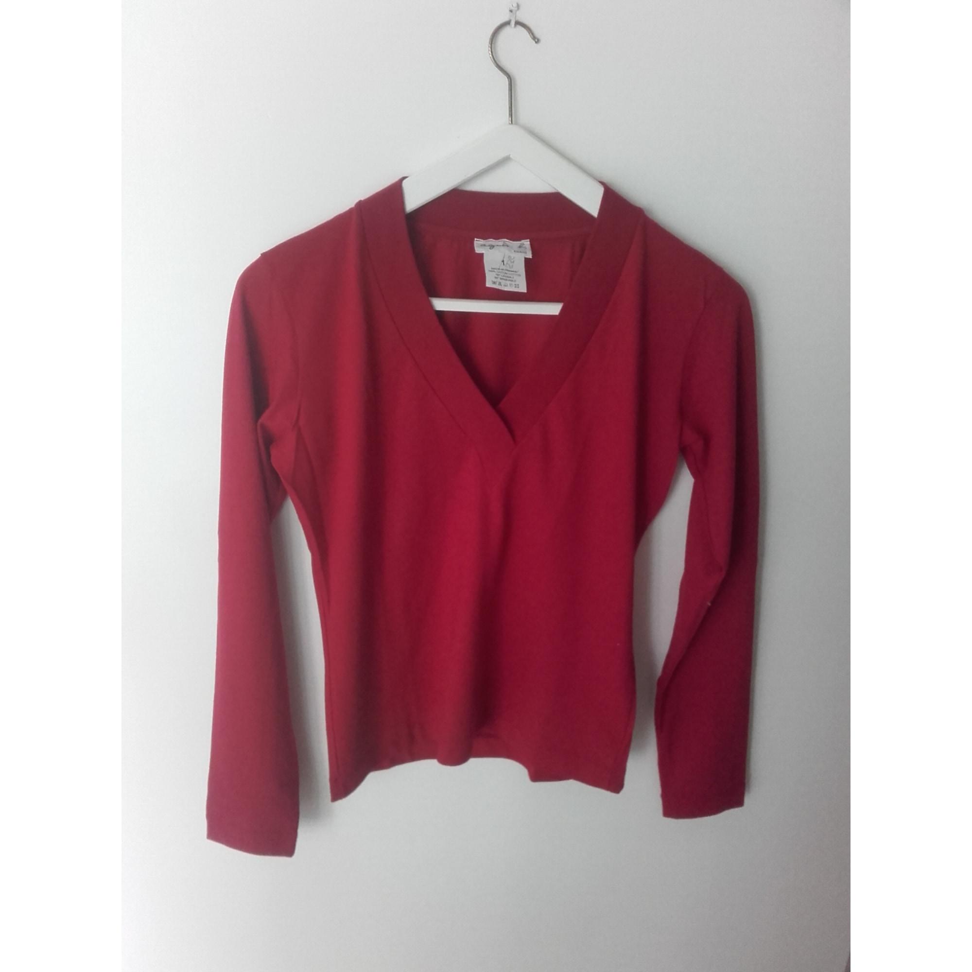 Top, tee-shirt AGNÈS B. Rouge, bordeaux