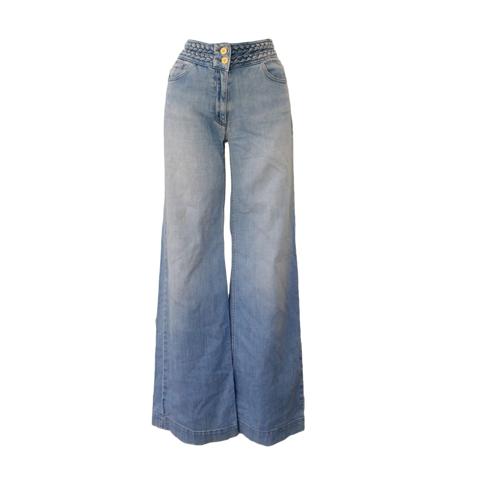 Jeans très evasé, patte d'éléphant SANDRO Bleu, bleu marine, bleu turquoise