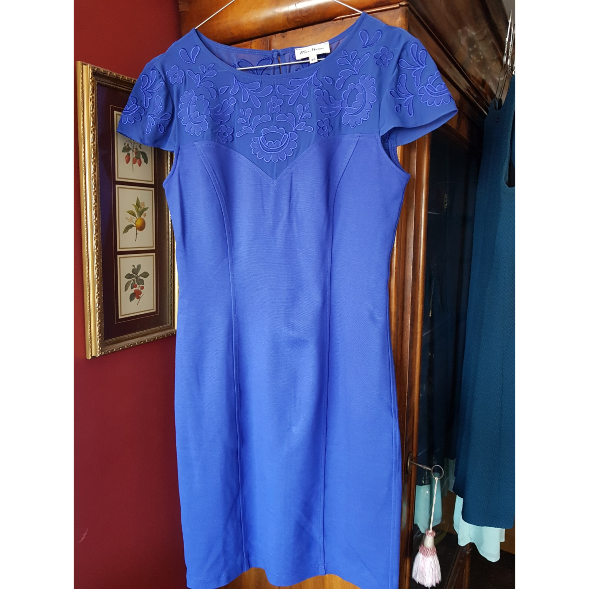 Robe courte BLANC NATURE Bleu, bleu marine, bleu turquoise