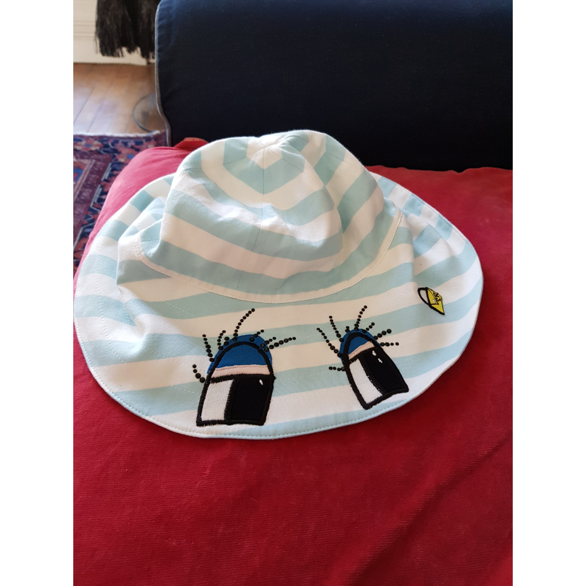 Hat SONIA RYKIEL multicolore . rayée bleu et blanc