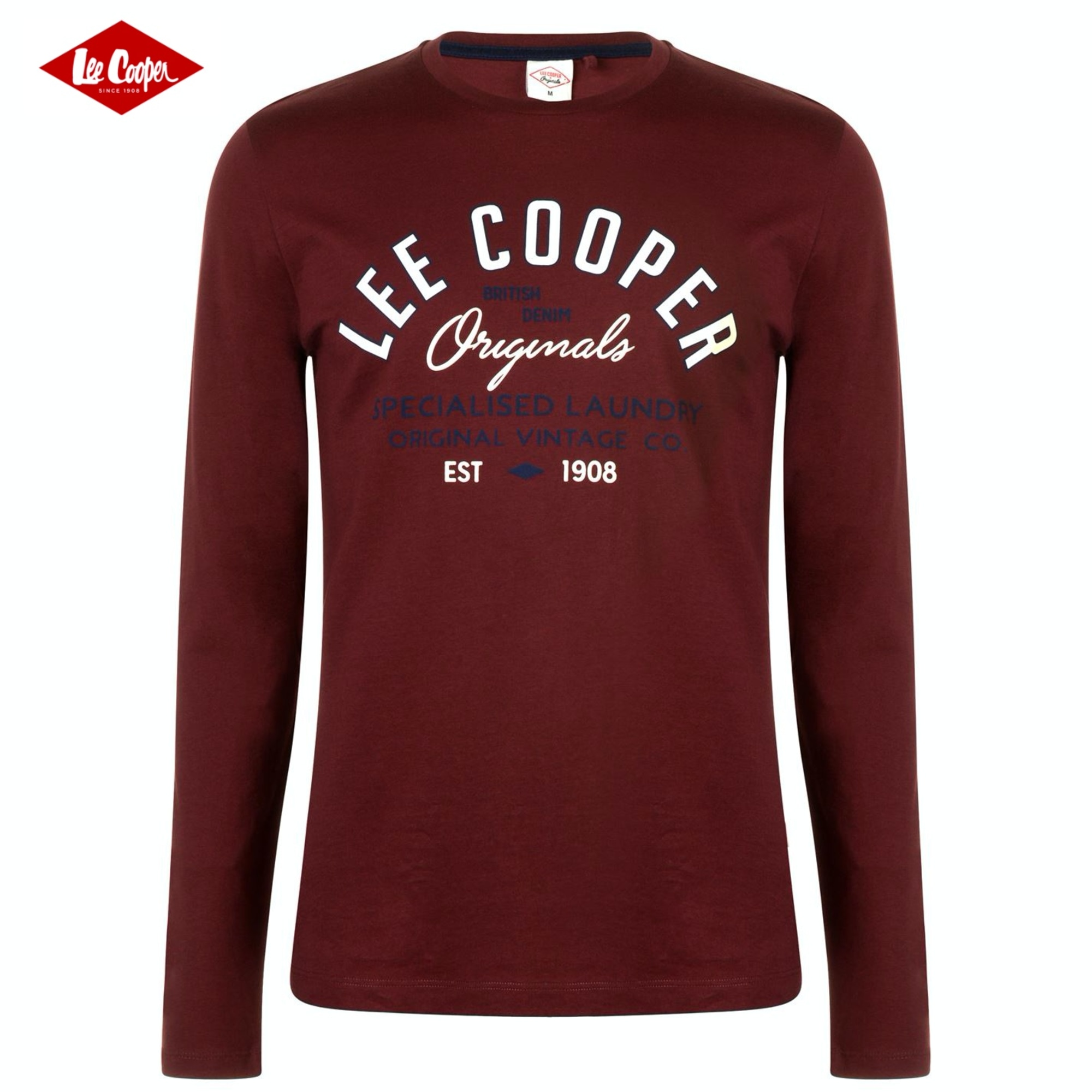 T-shirt LEE COOPER Red, burgundy