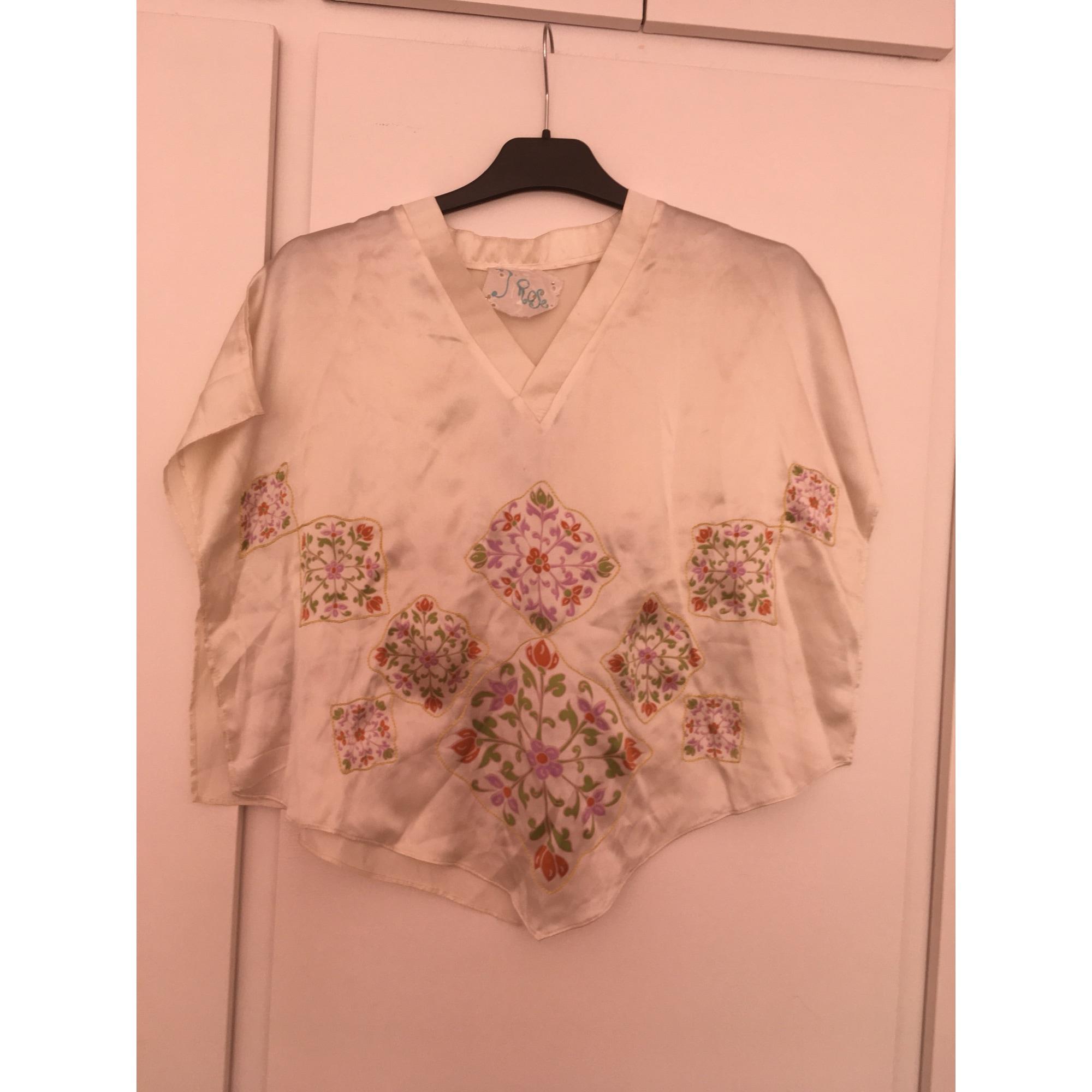 Top, tee-shirt INDIAN ROSE Blanc, blanc cassé, écru