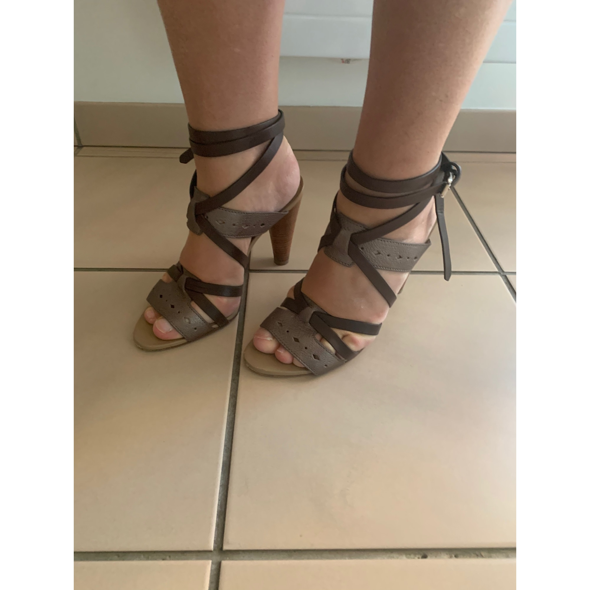 Sandales à talons TOD'S Marron