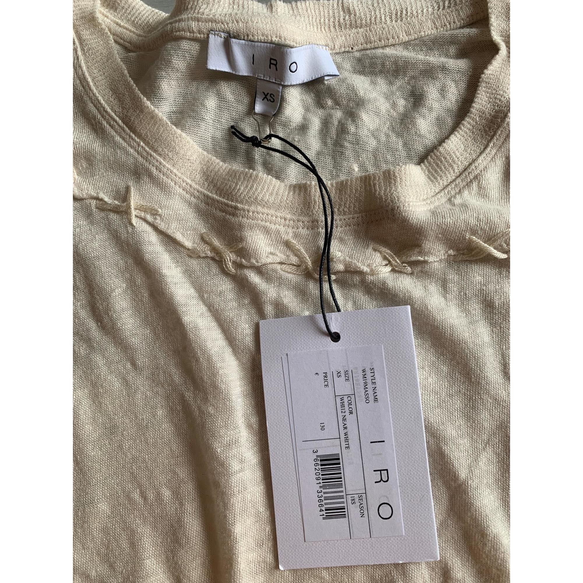 Top, tee-shirt IRO Blanc, blanc cassé, écru