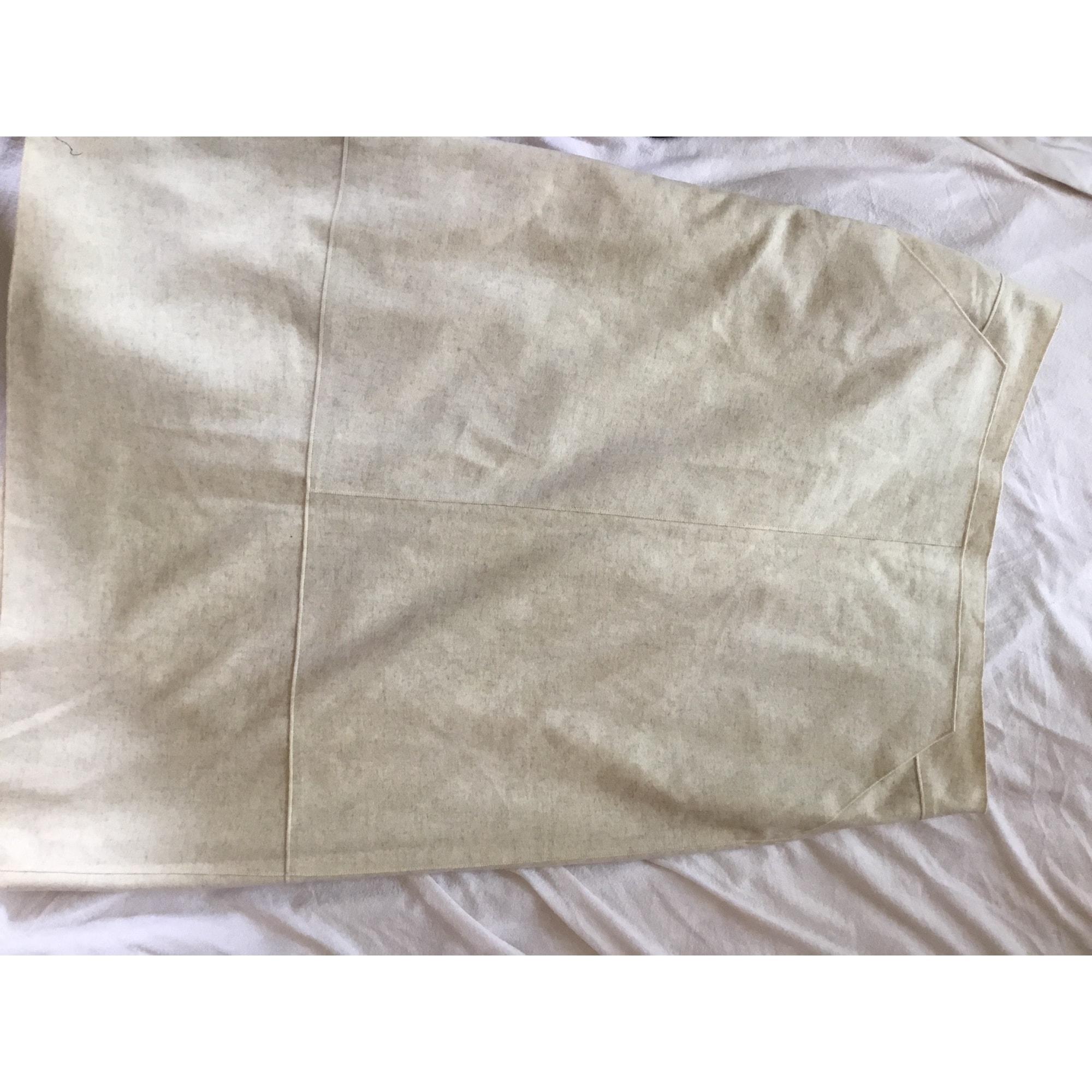Jupe mi-longue MARINA RINALDI Blanc, blanc cassé, écru