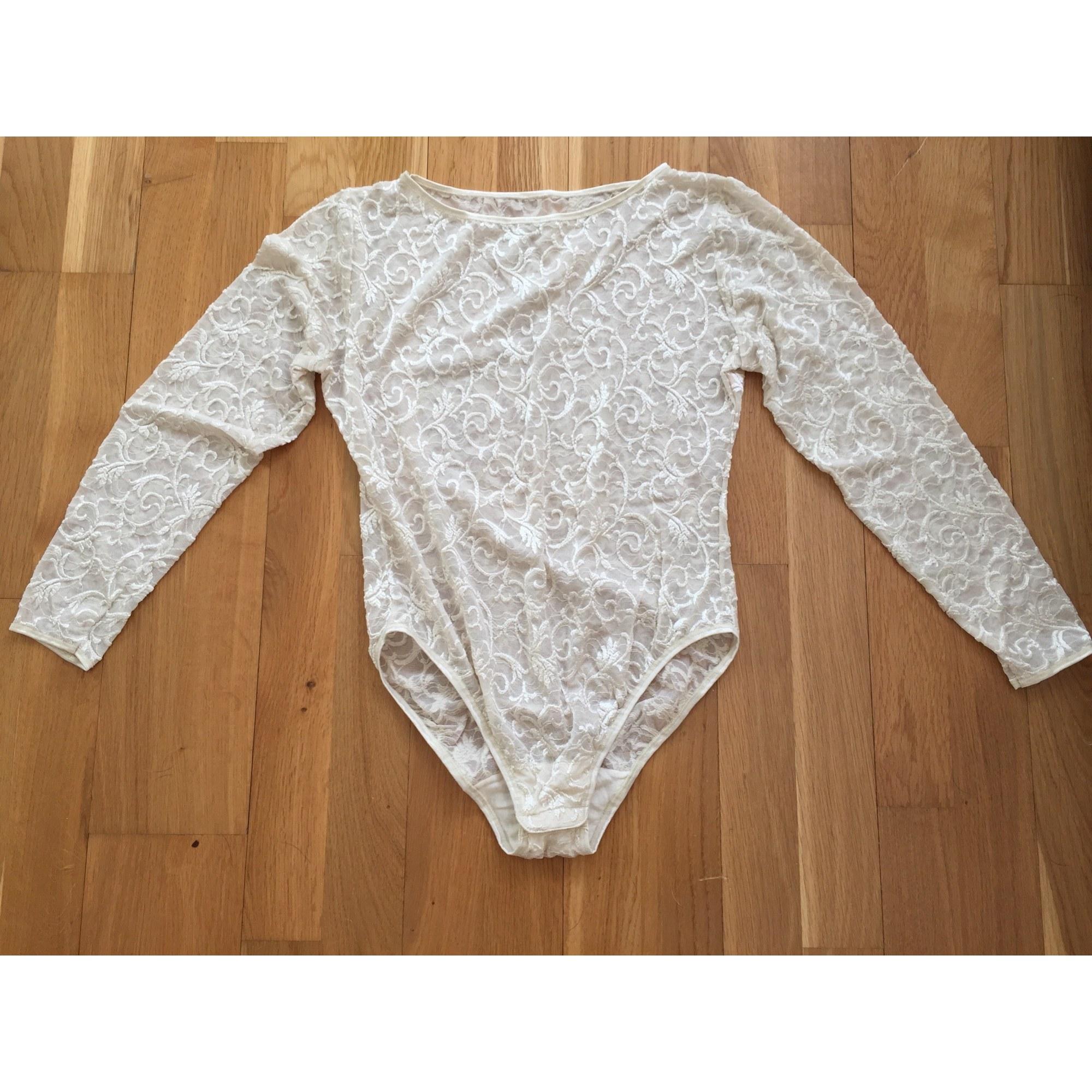 Top, tee-shirt MARQUE INCONNUE Blanc, blanc cassé, écru