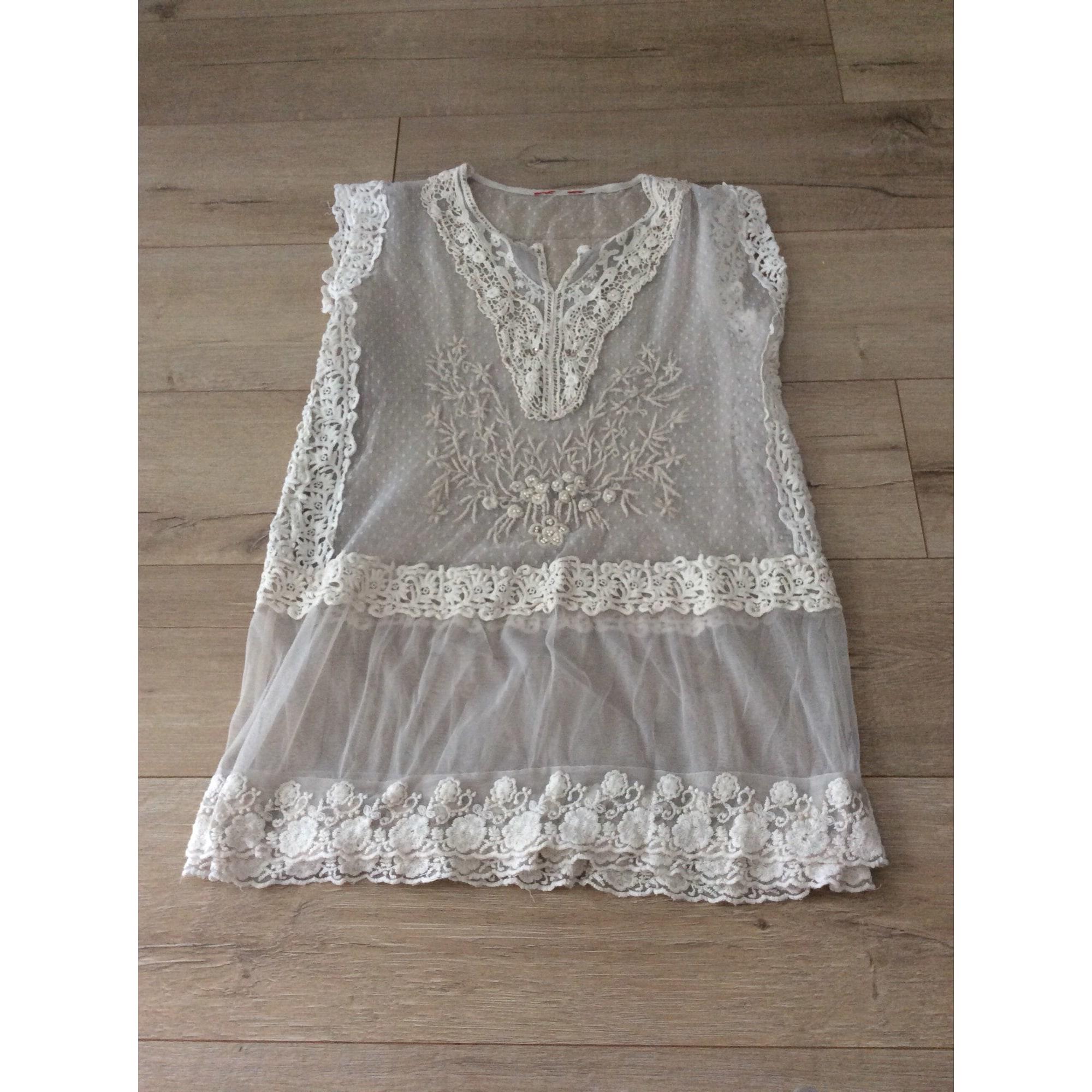 Robe mi-longue DERHY Blanc, blanc cassé, écru