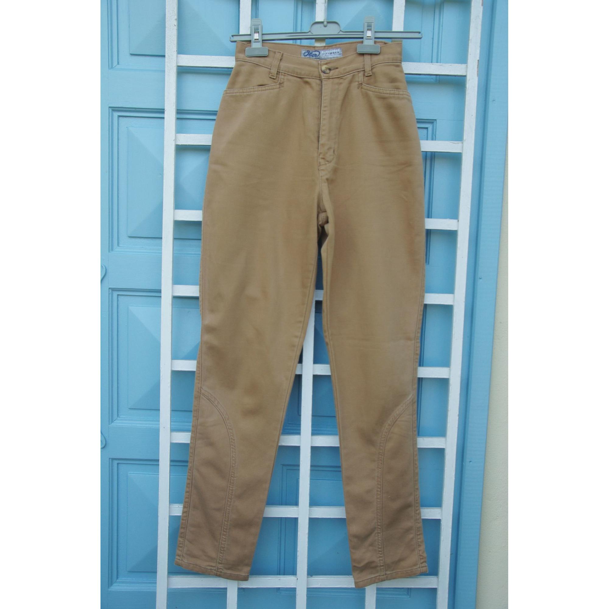 Pantalon droit OBER Beige, camel