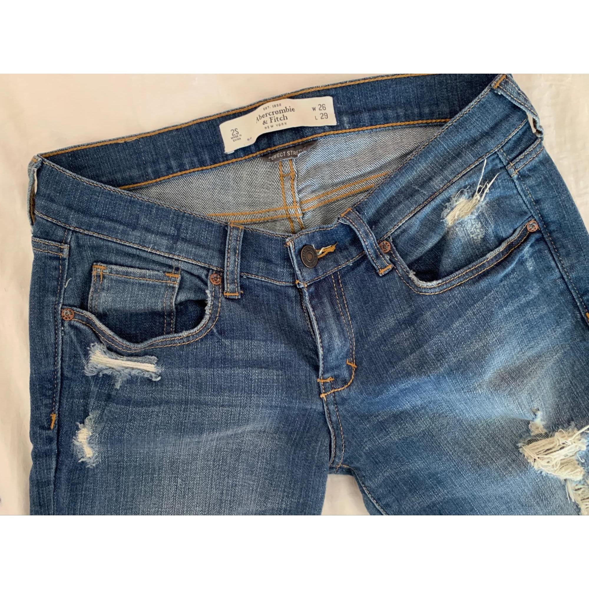 Jeans slim ABERCROMBIE & FITCH Bleu, bleu marine, bleu turquoise