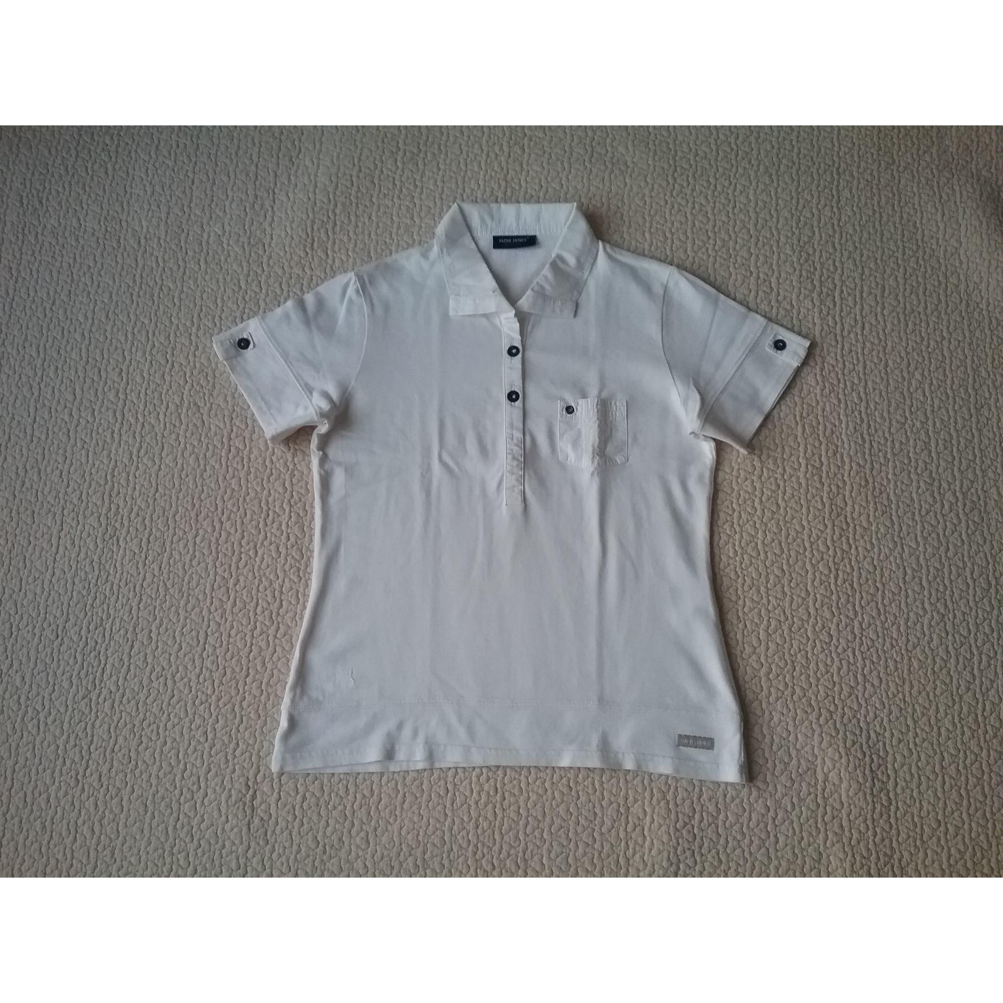 Polo SAINT JAMES Blanc, blanc cassé, écru