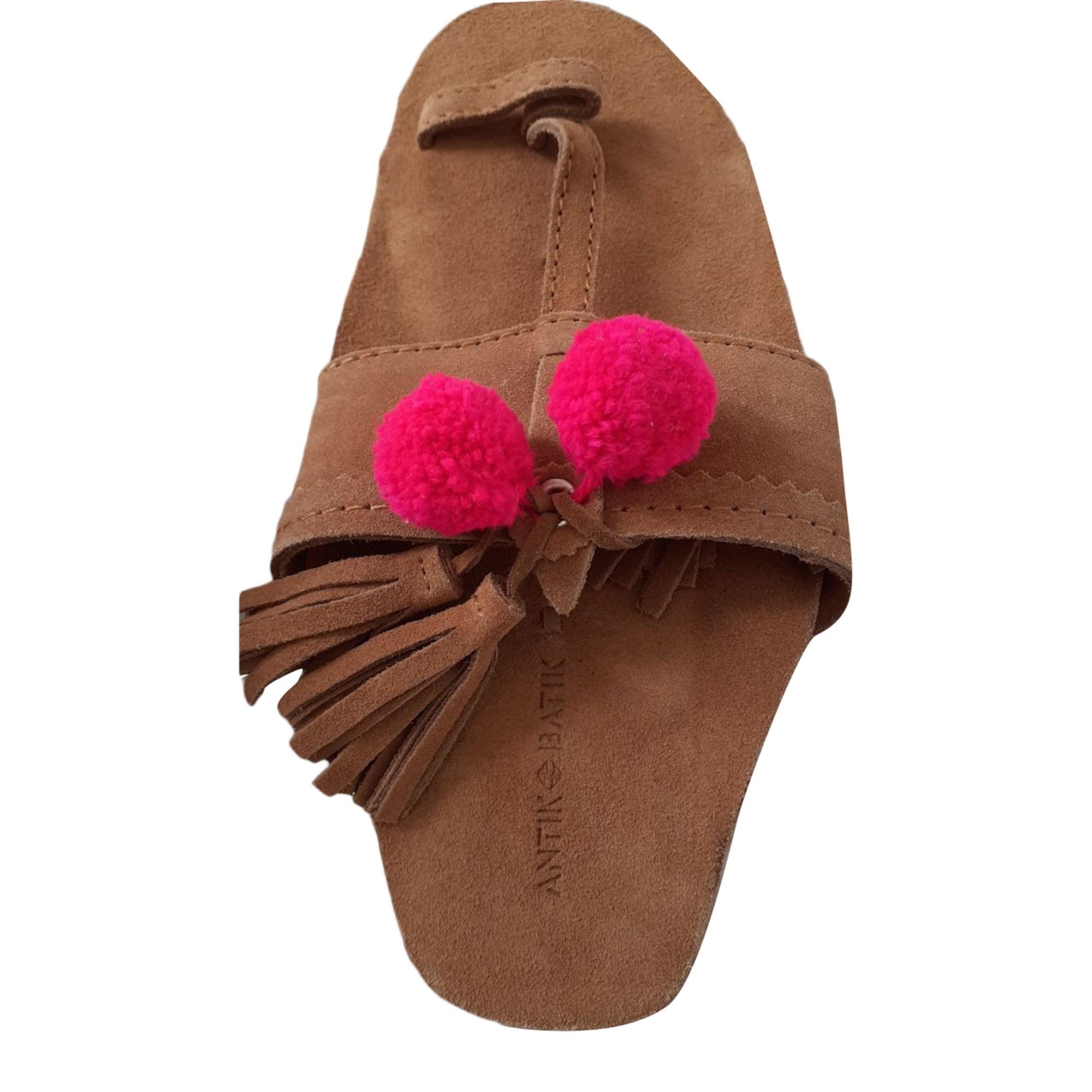 Sandales plates  ANTIK BATIK Beige, camel