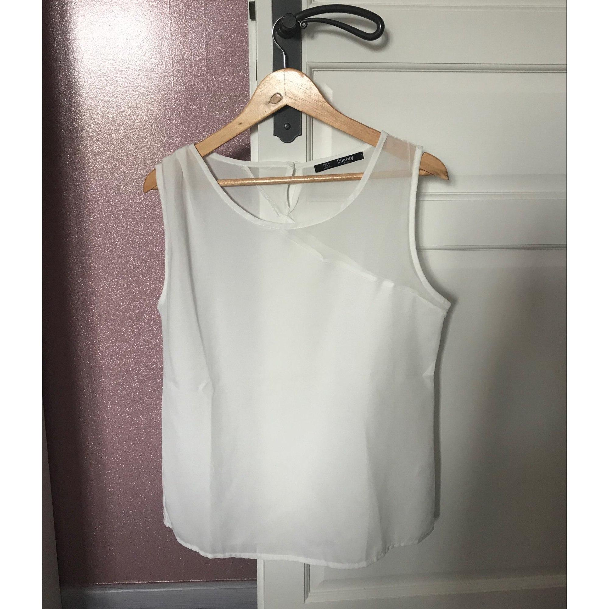 Top, tee-shirt CIMINY PARIS Blanc, blanc cassé, écru