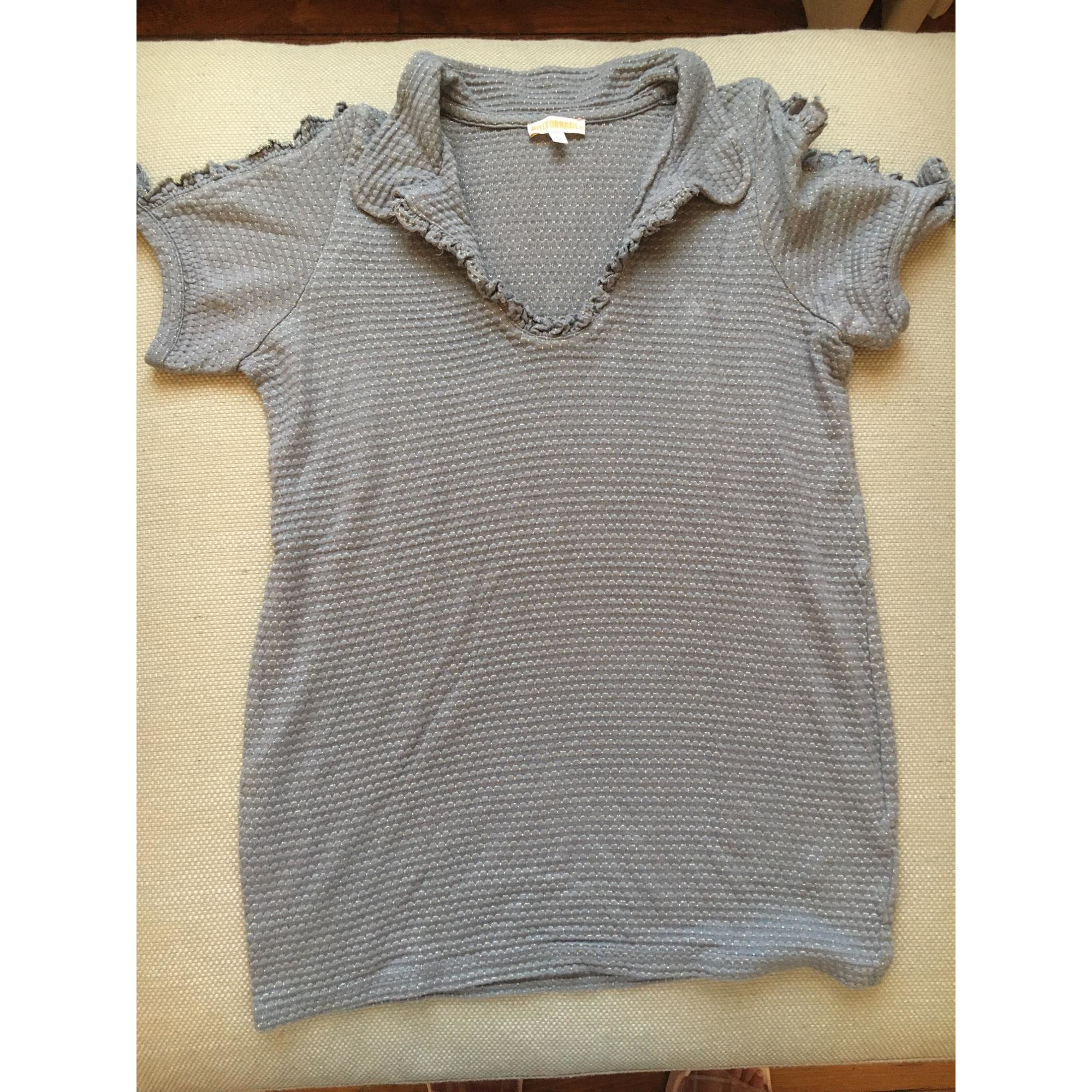 Top, Tee-shirt BILLTORNADE Argenté, acier