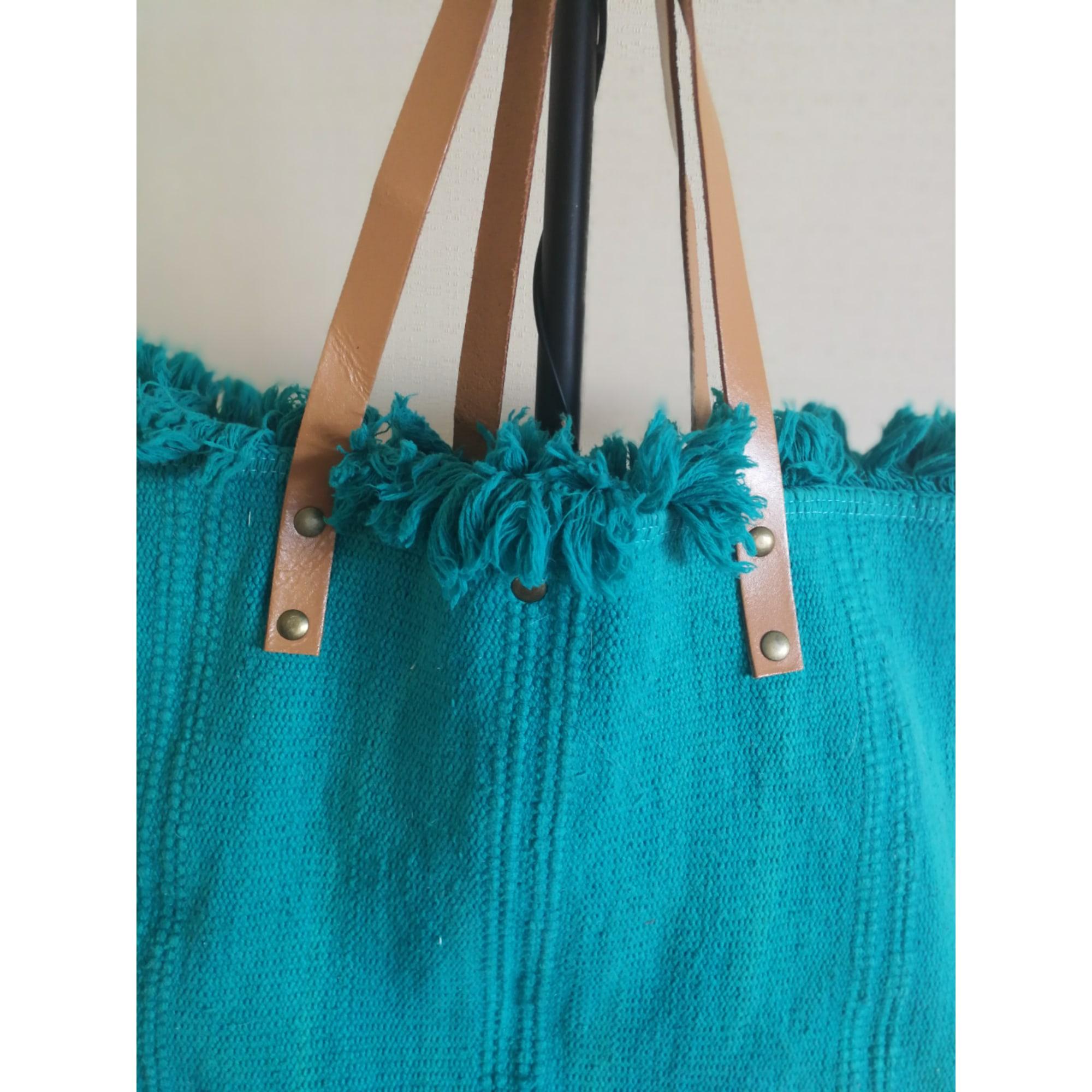 Sac XL en tissu AUTRES Bleu, bleu marine, bleu turquoise